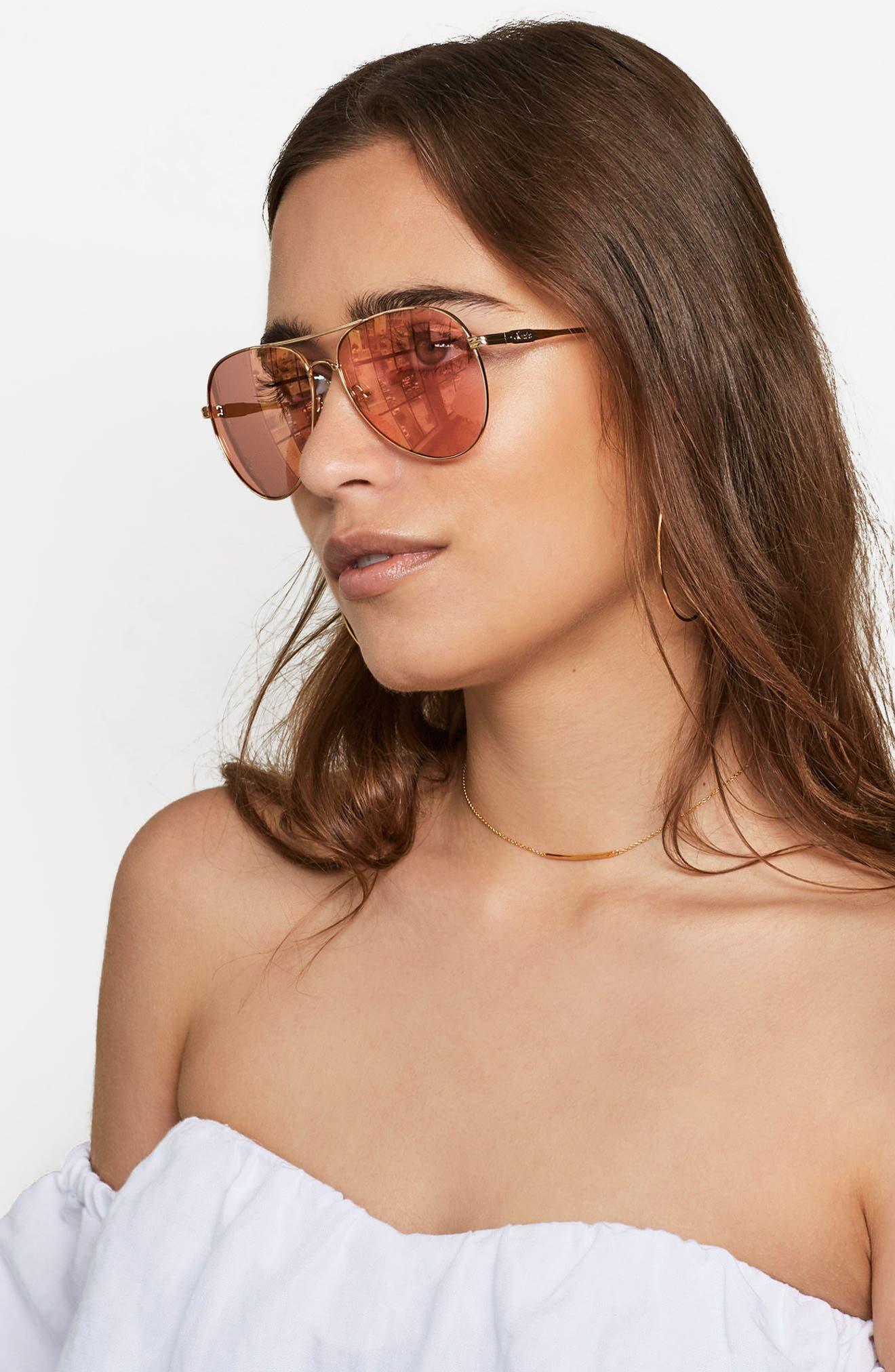Alternate Image 3  - Sonix Lodi 61mm Mirrored Aviator Sunglasses