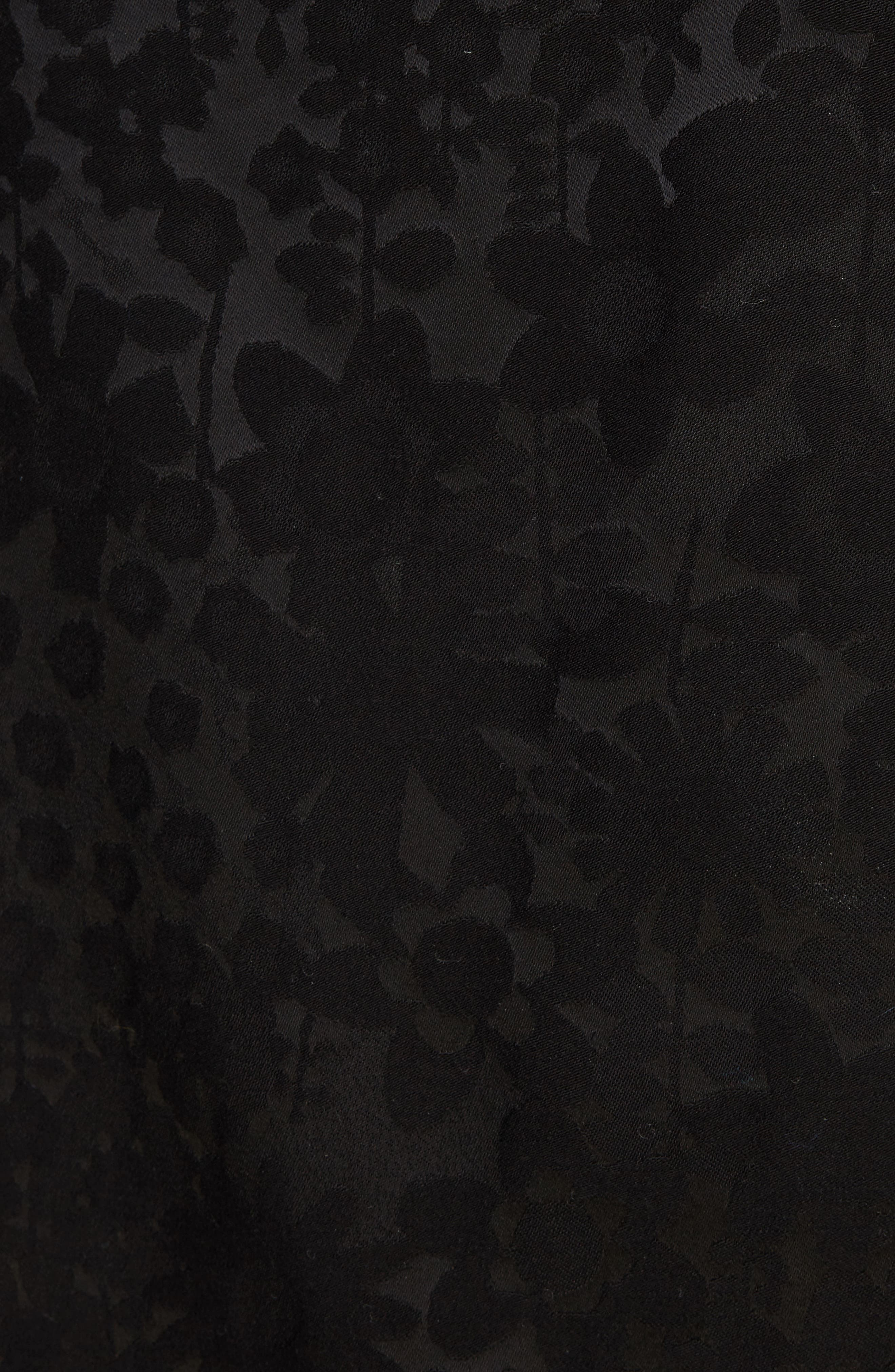 Danya Floral Asymmetrical Hem Dress,                             Alternate thumbnail 5, color,                             Black Floral