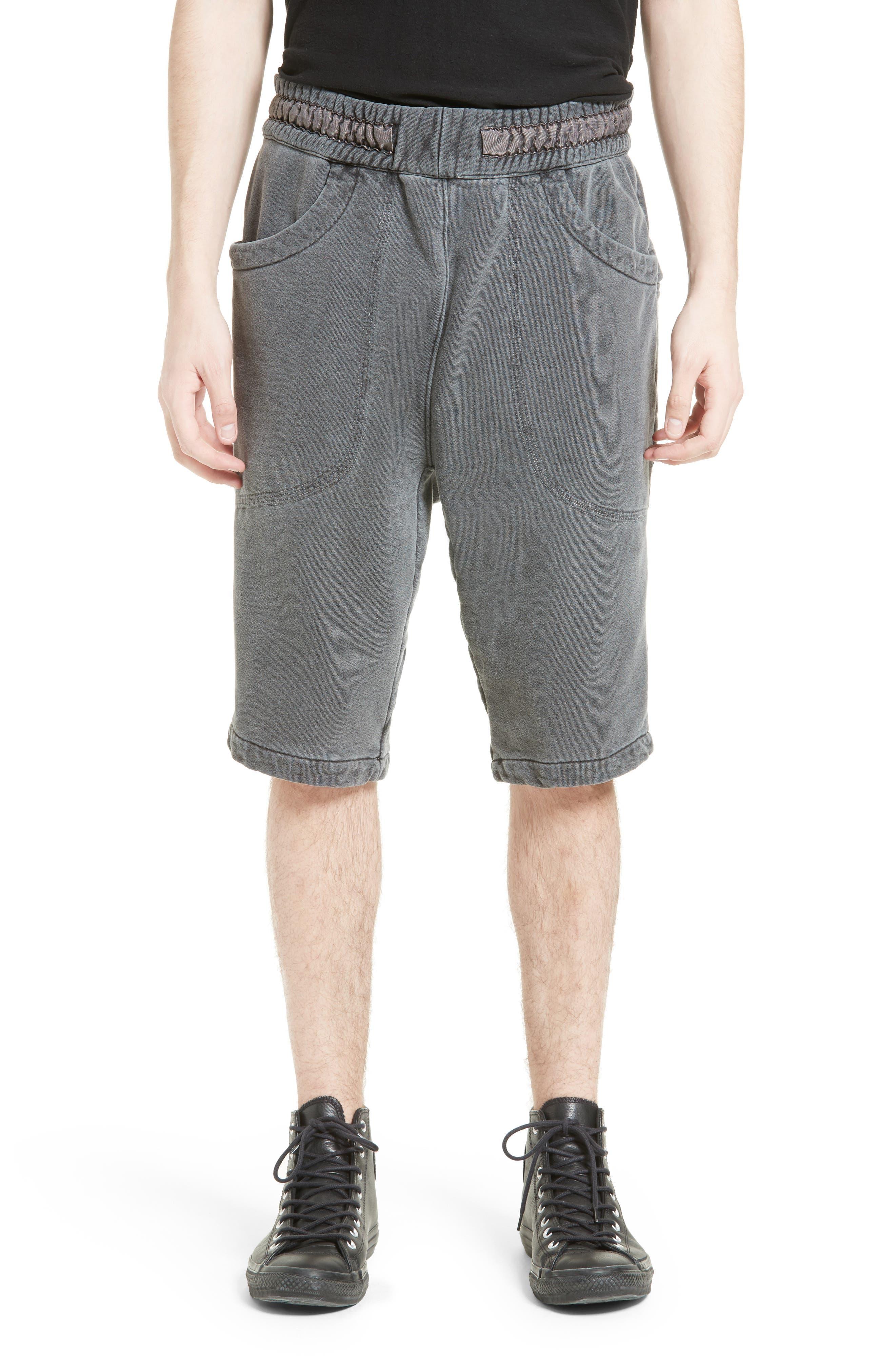 Quark Sweat Shorts,                         Main,                         color, Black Pigment