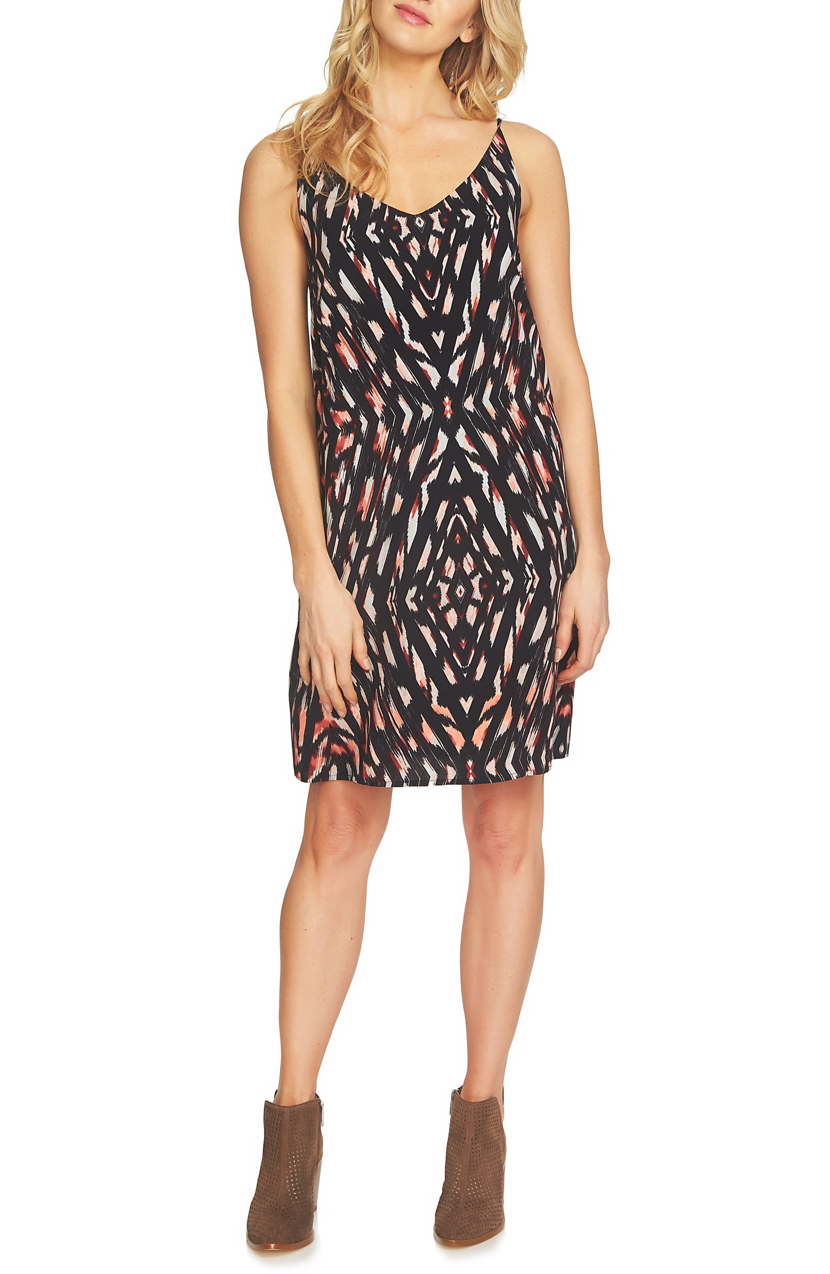 1.STATE Print Shift Dress