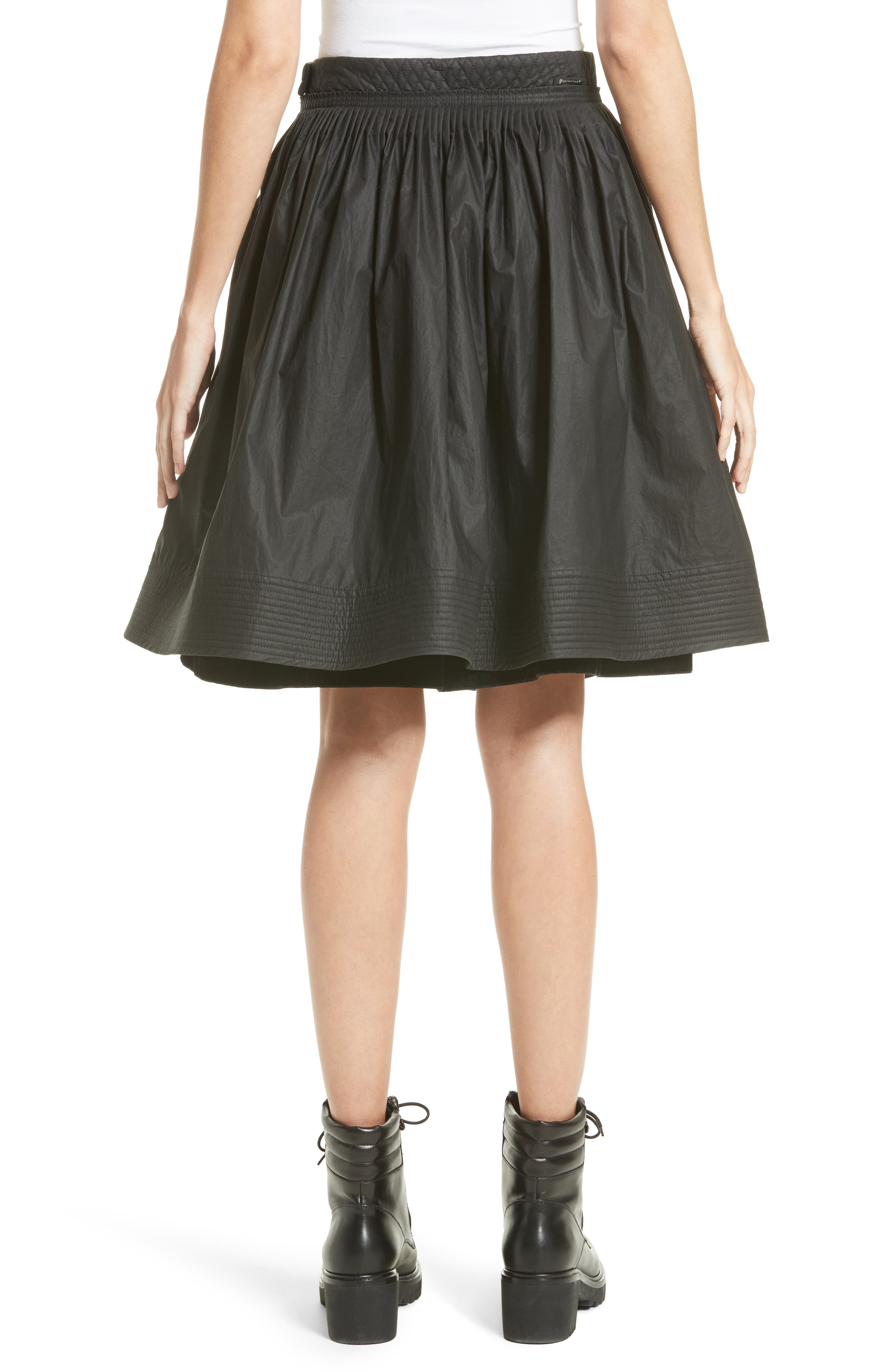 Alternate Image 2  - Moncler Gonna Cotton A-Line Skirt