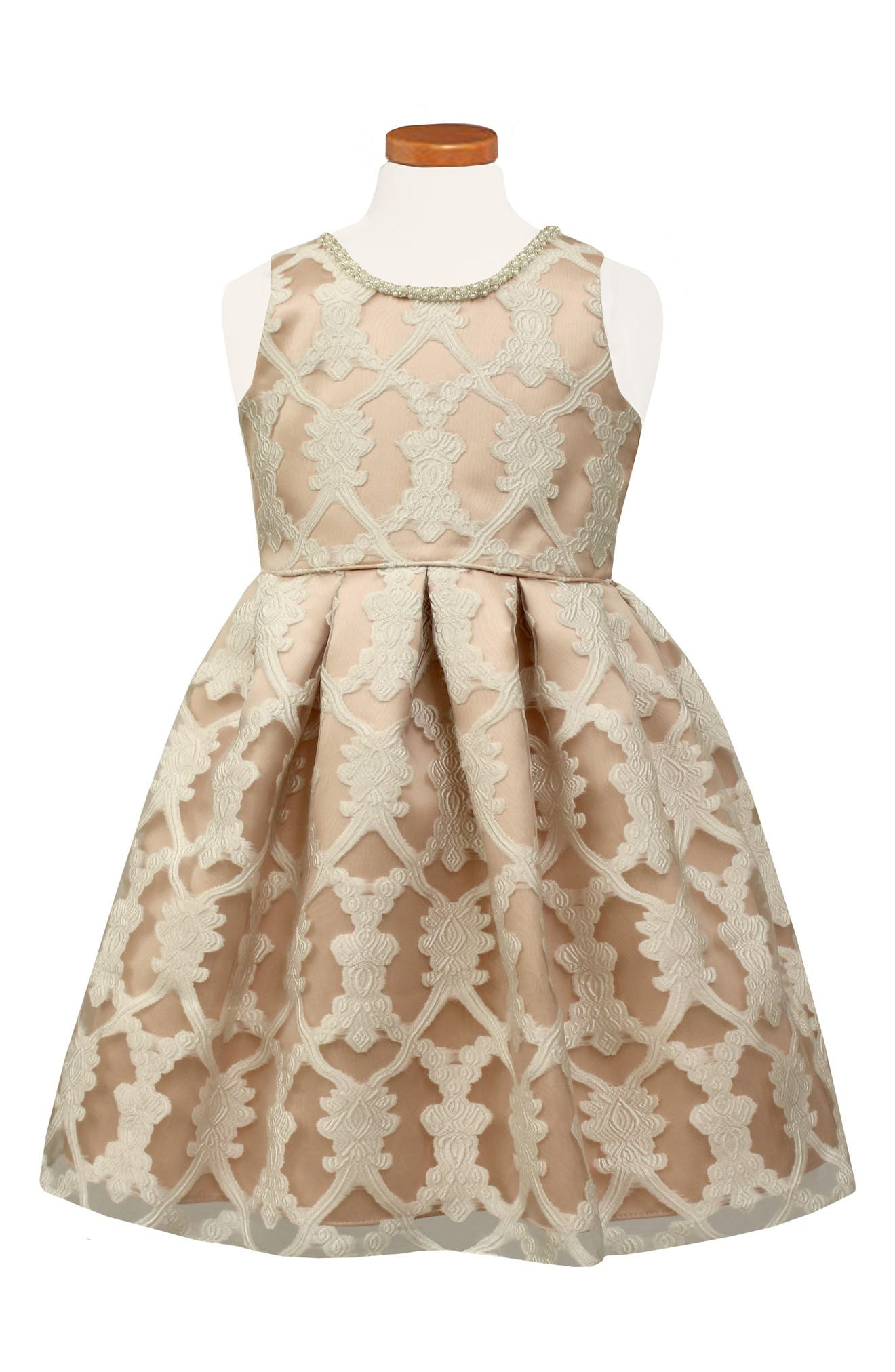 Sorbet Burnout Lace Party Dress (Toddler Girls, Little Girls & Big Girls)