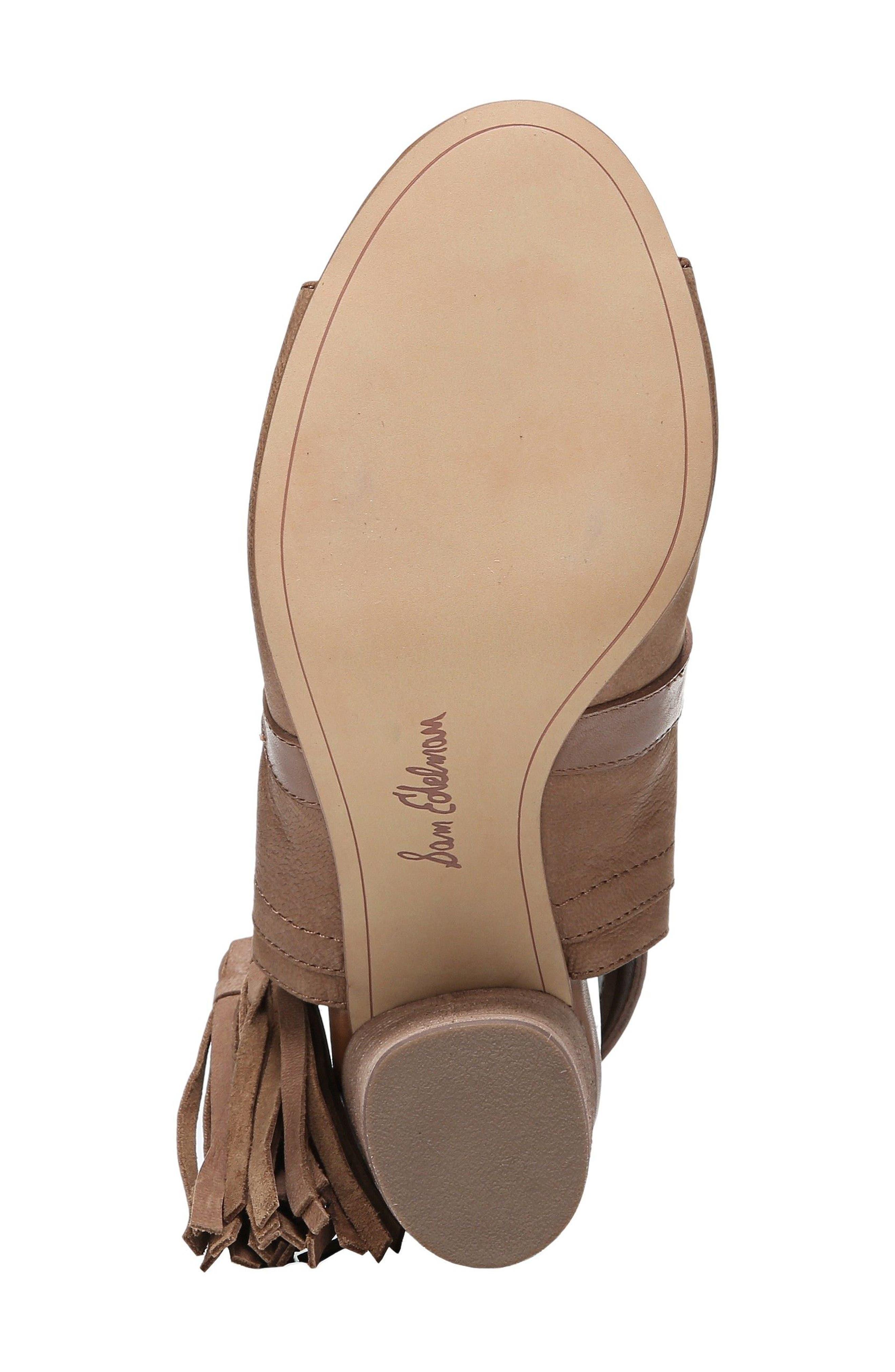 Vermont Block Heel Sandal,                             Alternate thumbnail 6, color,                             Deep Saddle Nubuck Leather