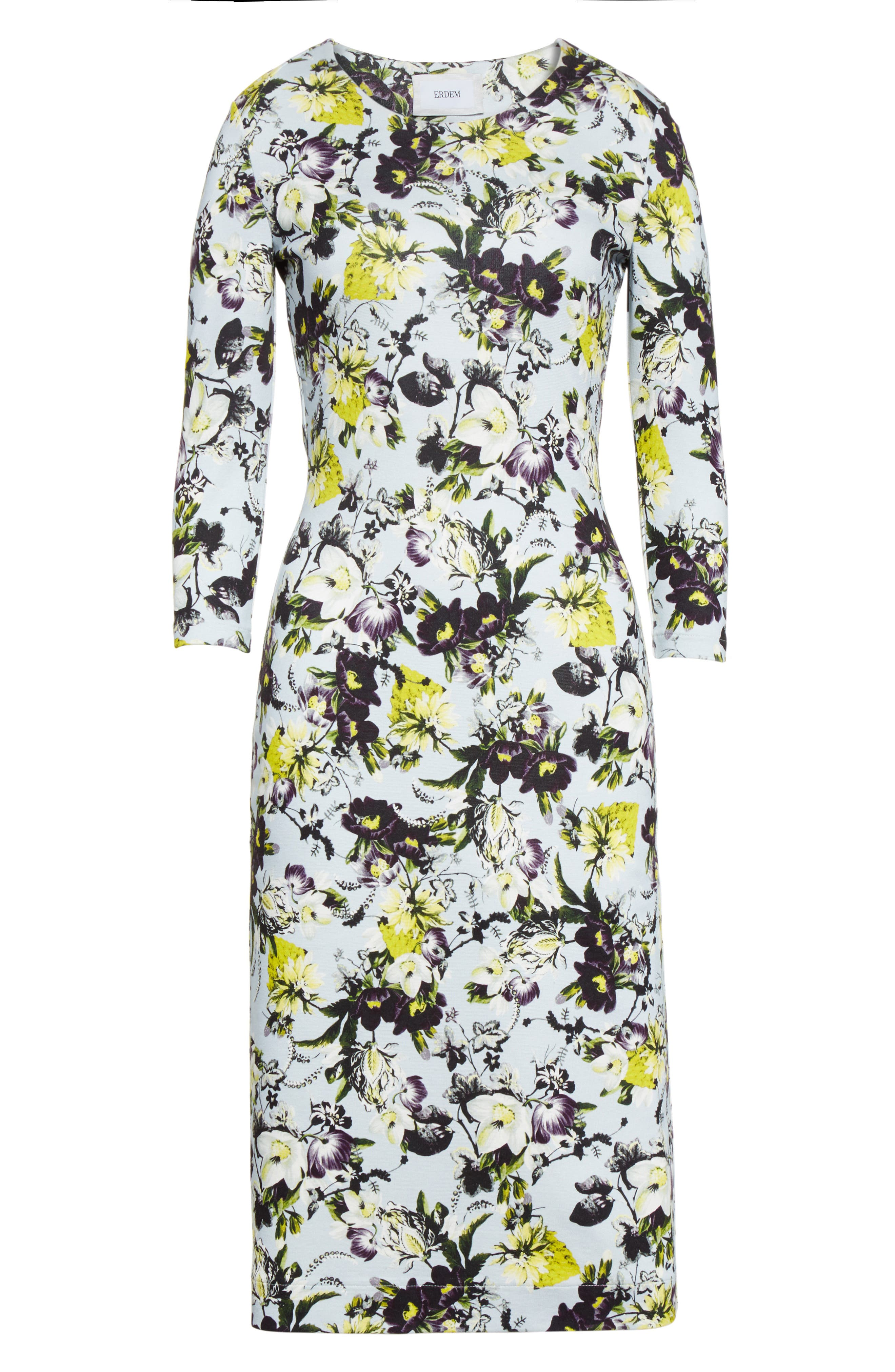 Alternate Image 4  - Erdem Floral Jersey Sheath Dress