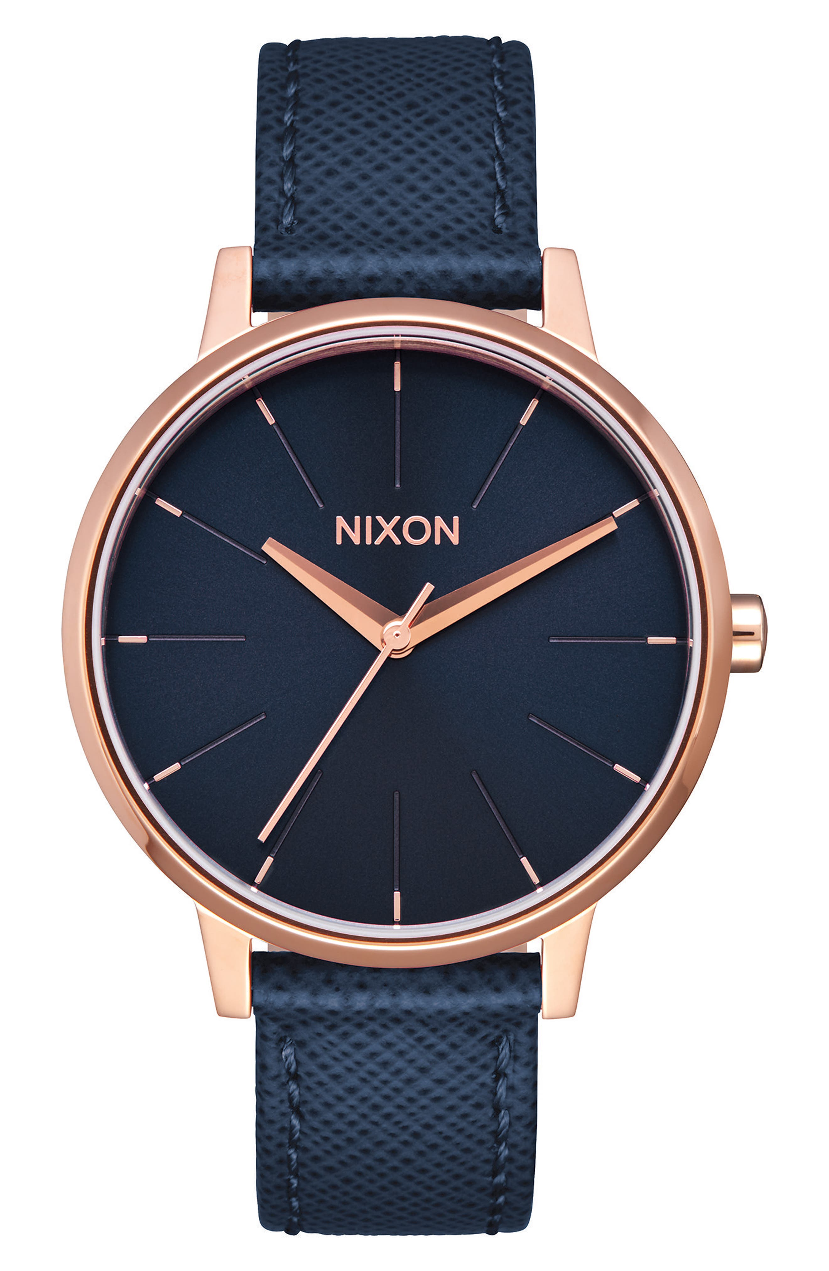 NIXON The Kensington Leather Strap Watch, 37mm