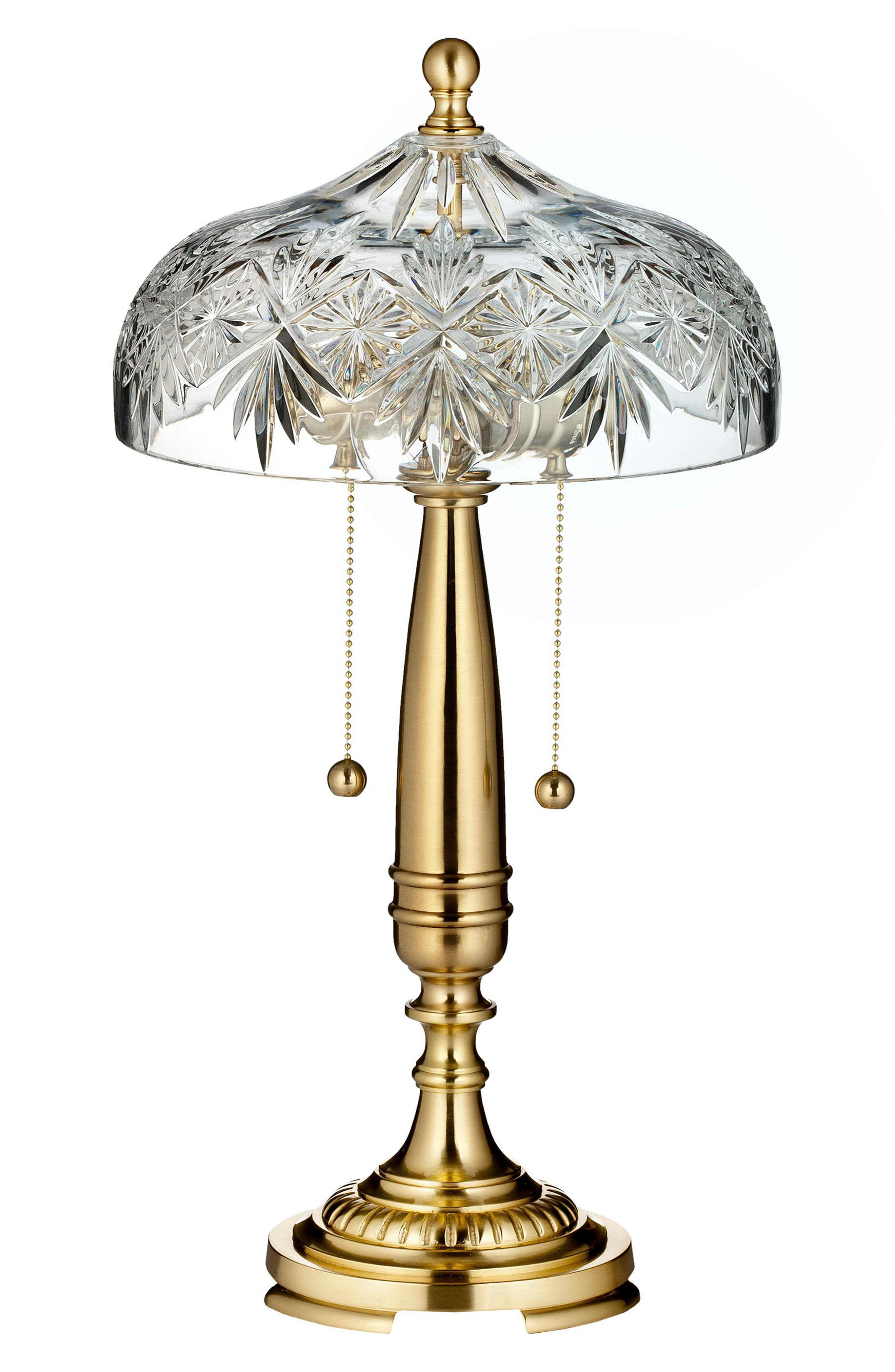 Renmore Lead Crystal Table Lamp,                         Main,                         color, Crystal