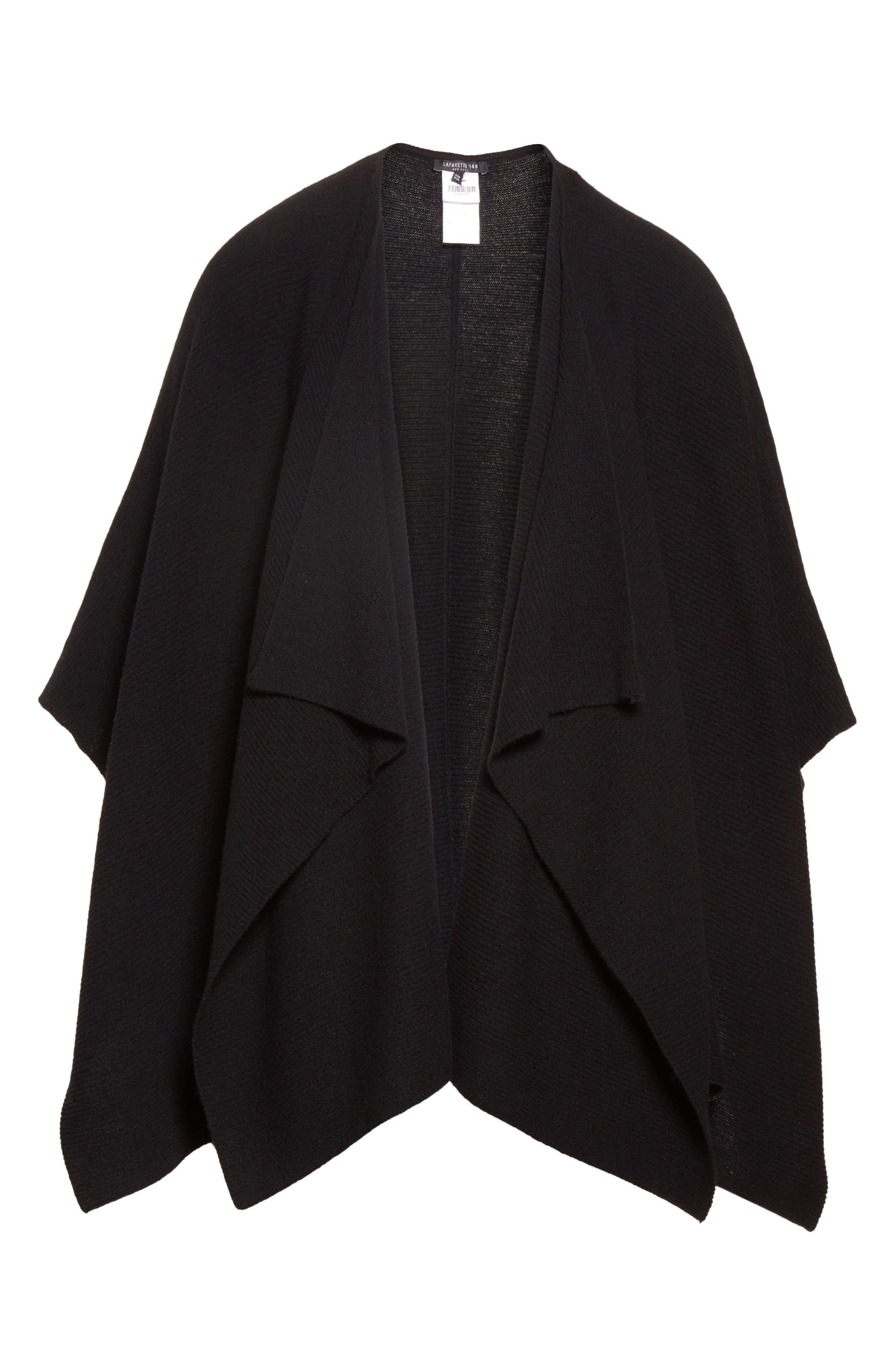 Cashmere Wrap,                             Alternate thumbnail 4, color,                             Black