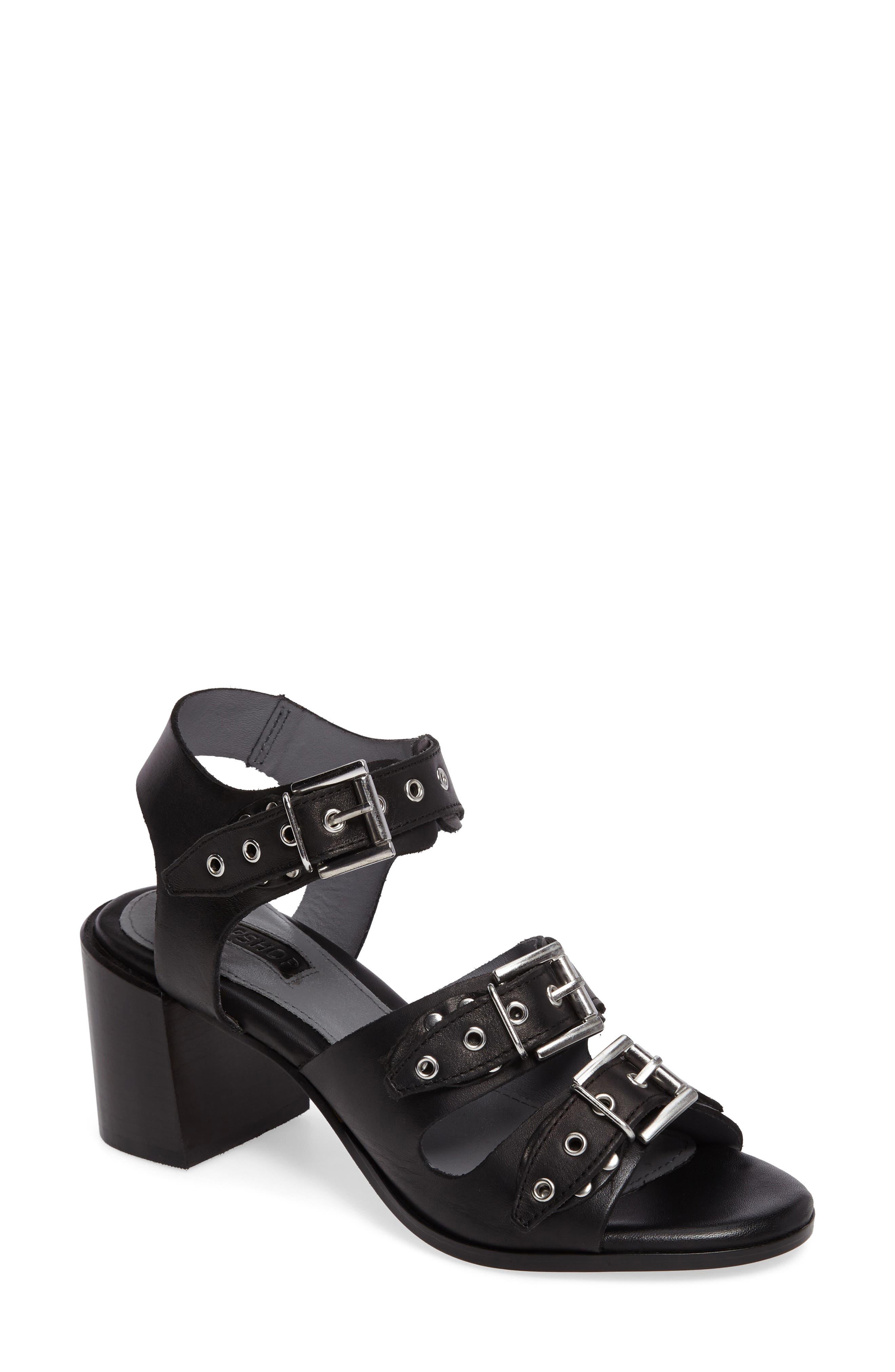 Topshop Veronica Studded Buckle Sandal (Women)