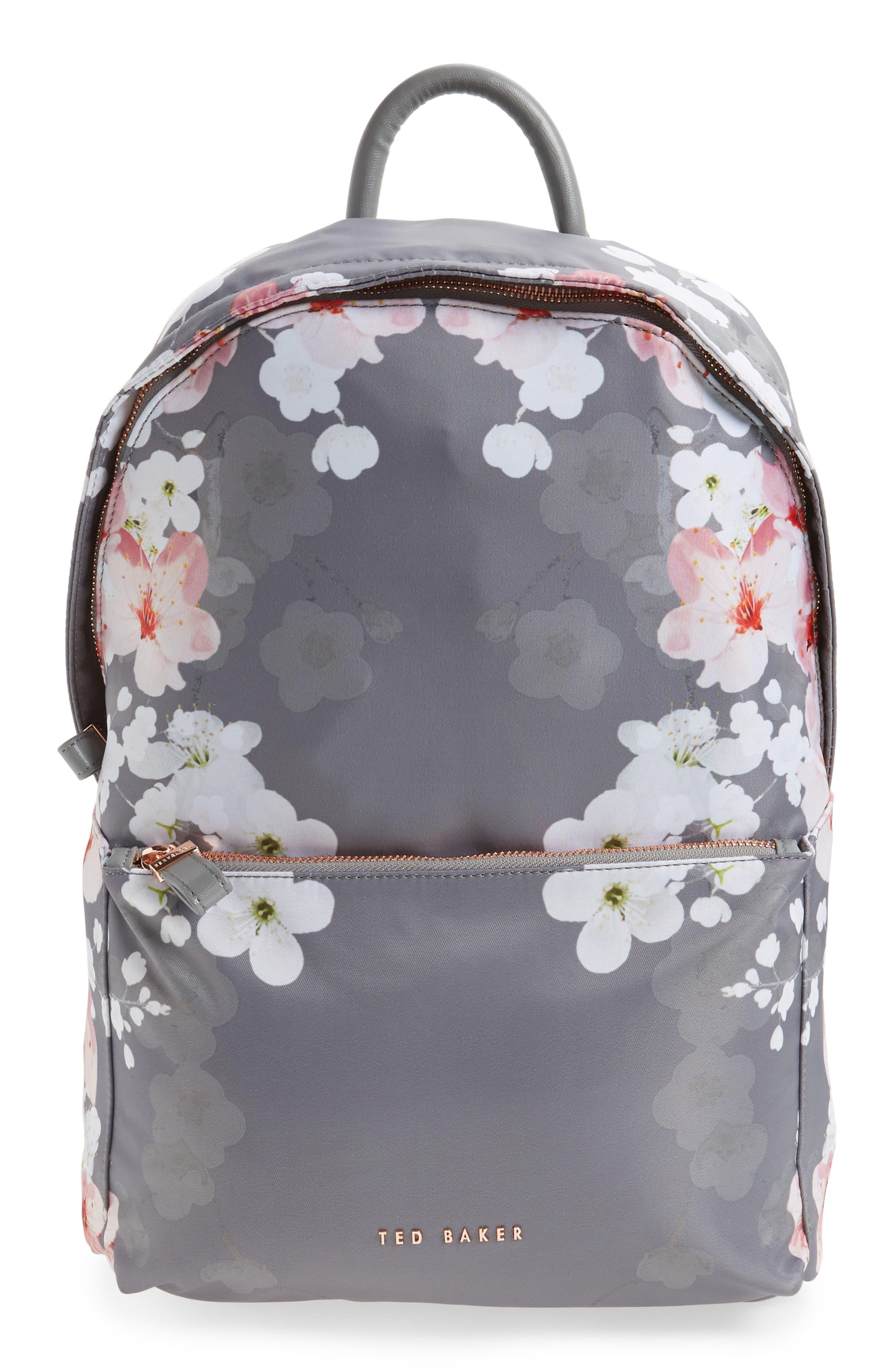 Olica Oriental Blossom Backpack,                         Main,                         color, Light Grey