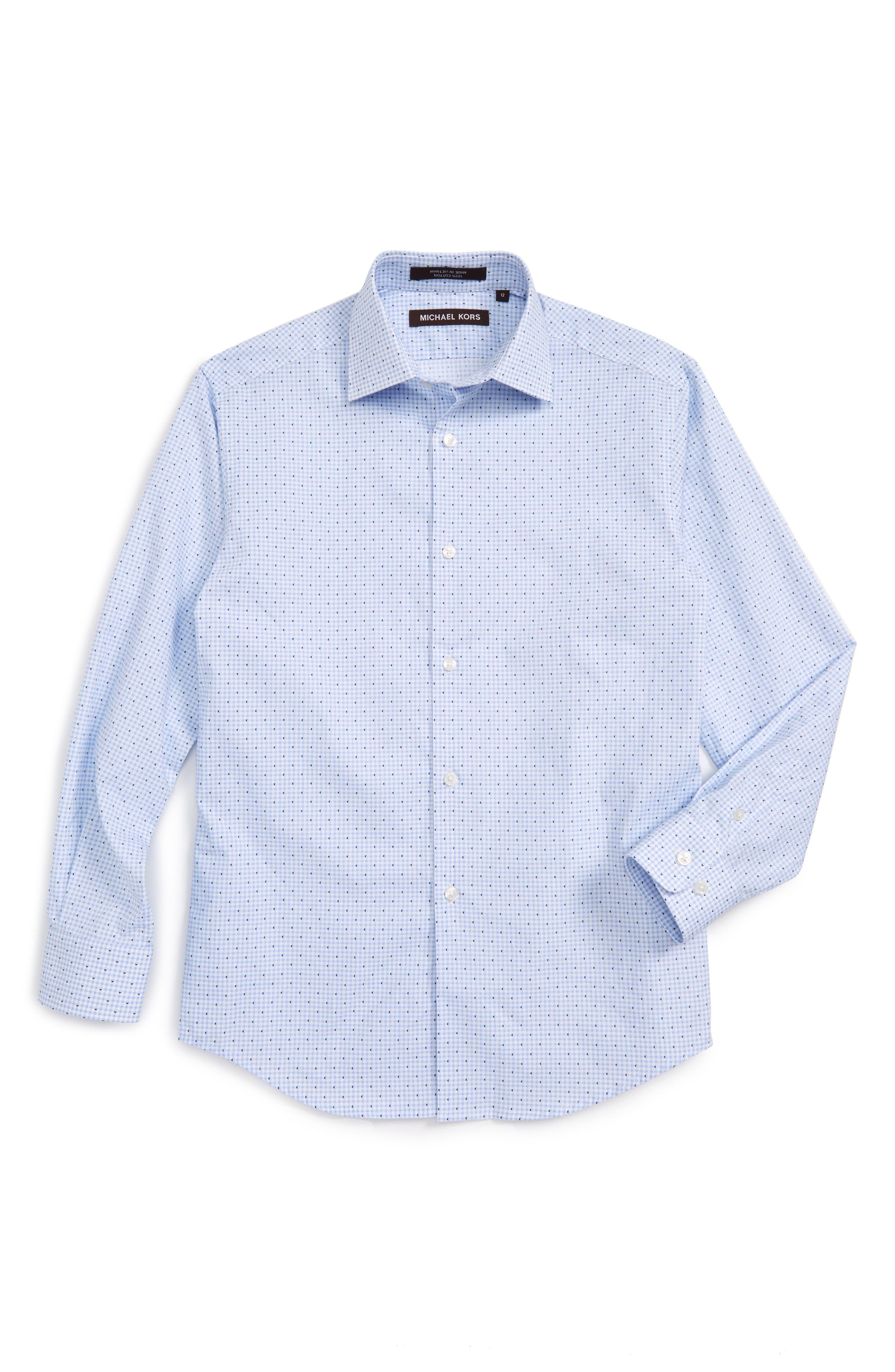 Michael Kors Gingham Dress Shirt (Big Boys)