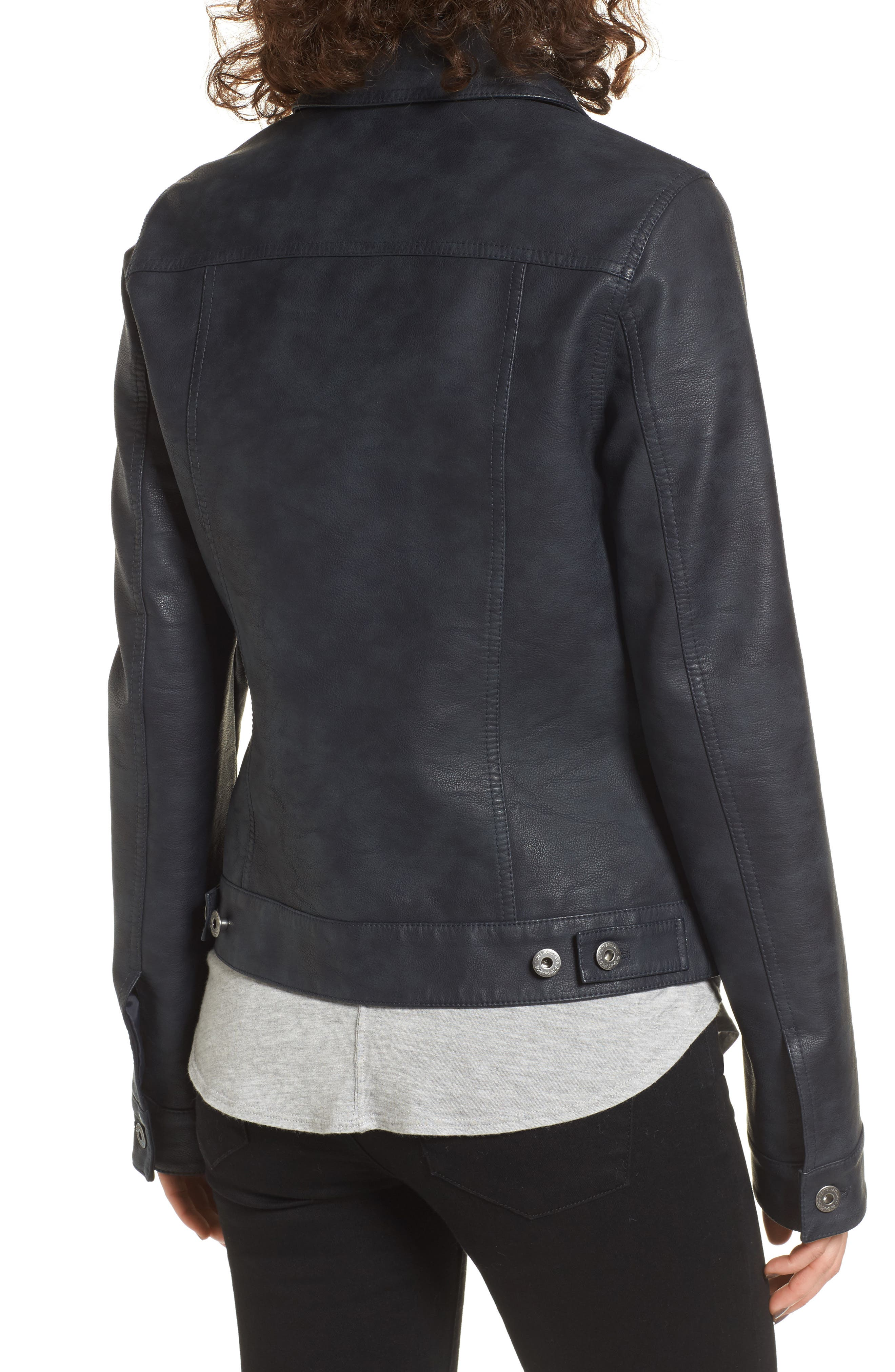 Alternate Image 2  - Levi's® Faux Leather Trucker Jacket