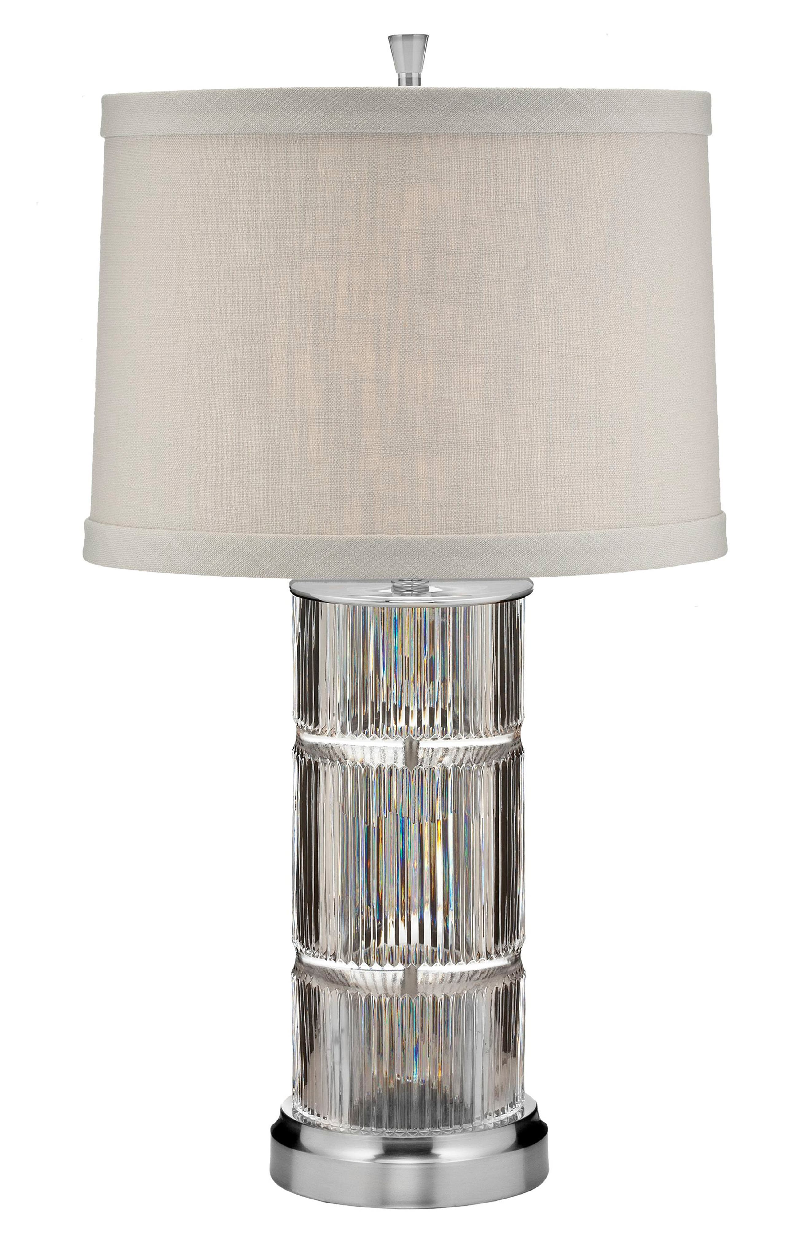 Main Image - Waterford Linear Crystal Table Lamp