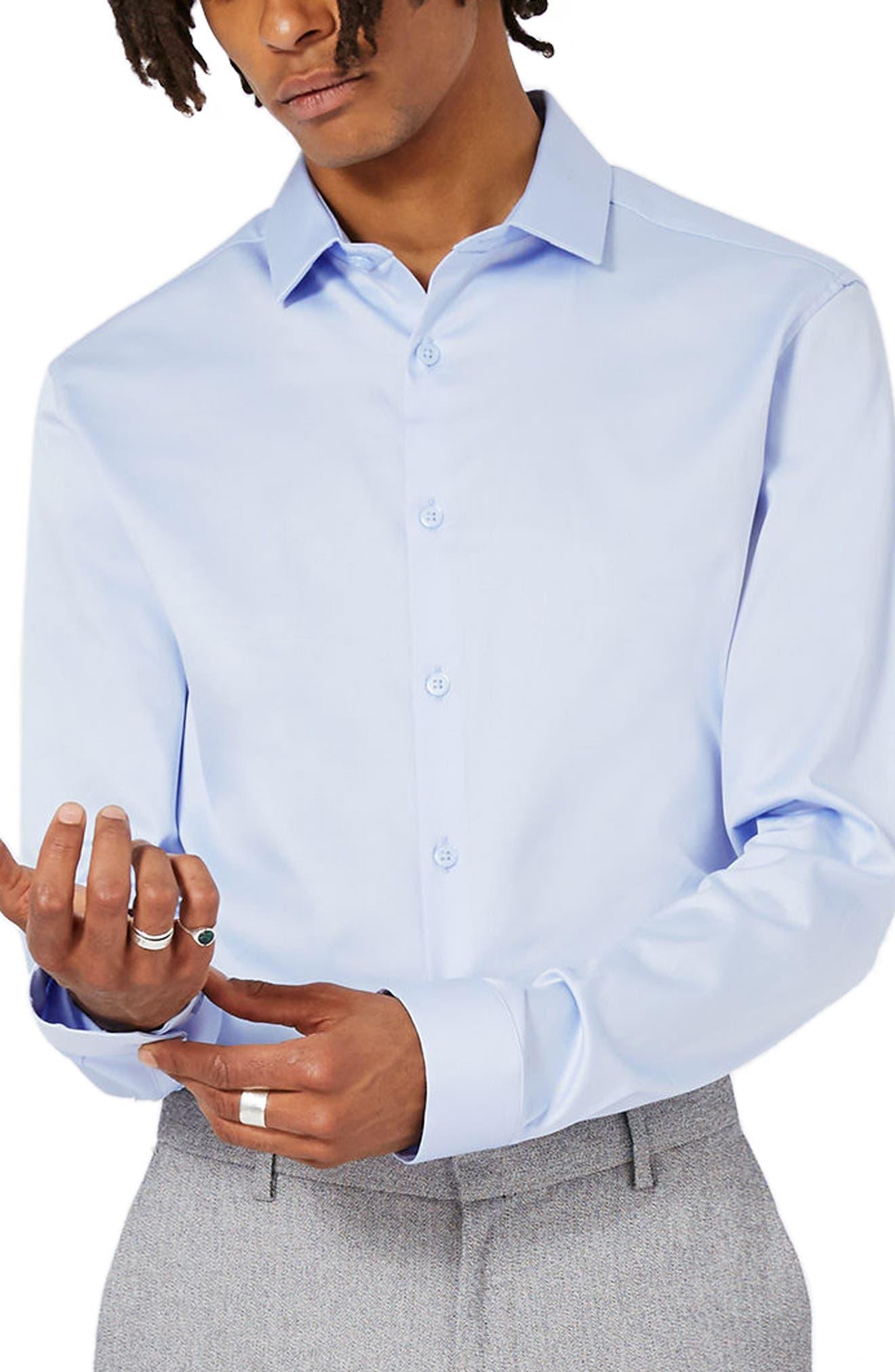 Alternate Image 2  - Topman Stretch Cotton Shirt