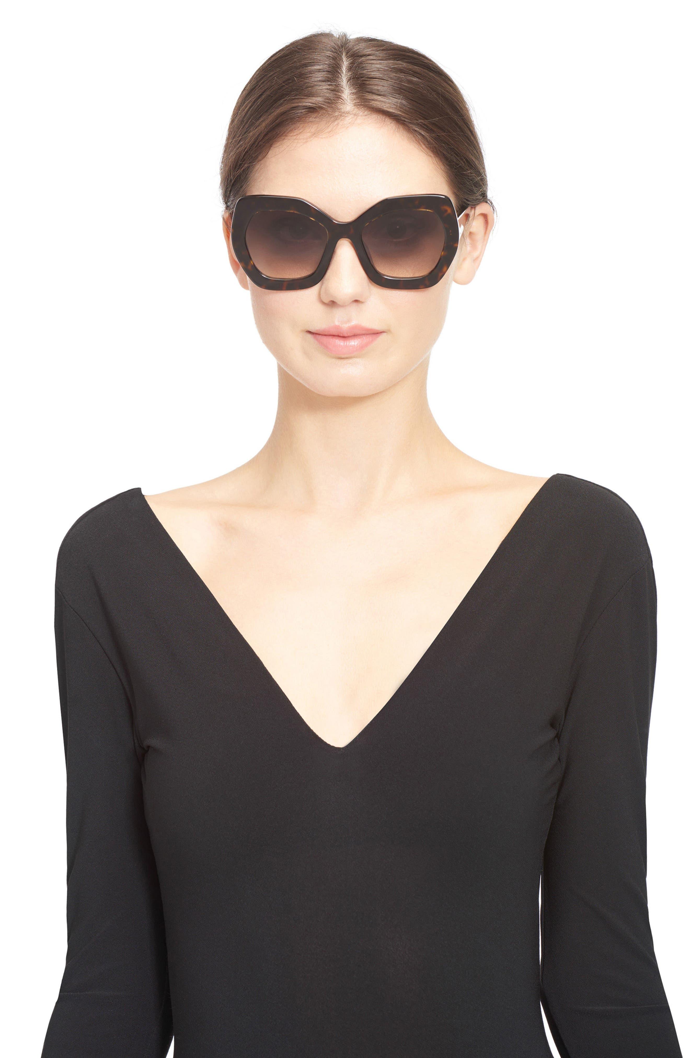 Dinah 55mm Butterfly Sunglasses,                             Alternate thumbnail 3, color,                             Dark Tortoise