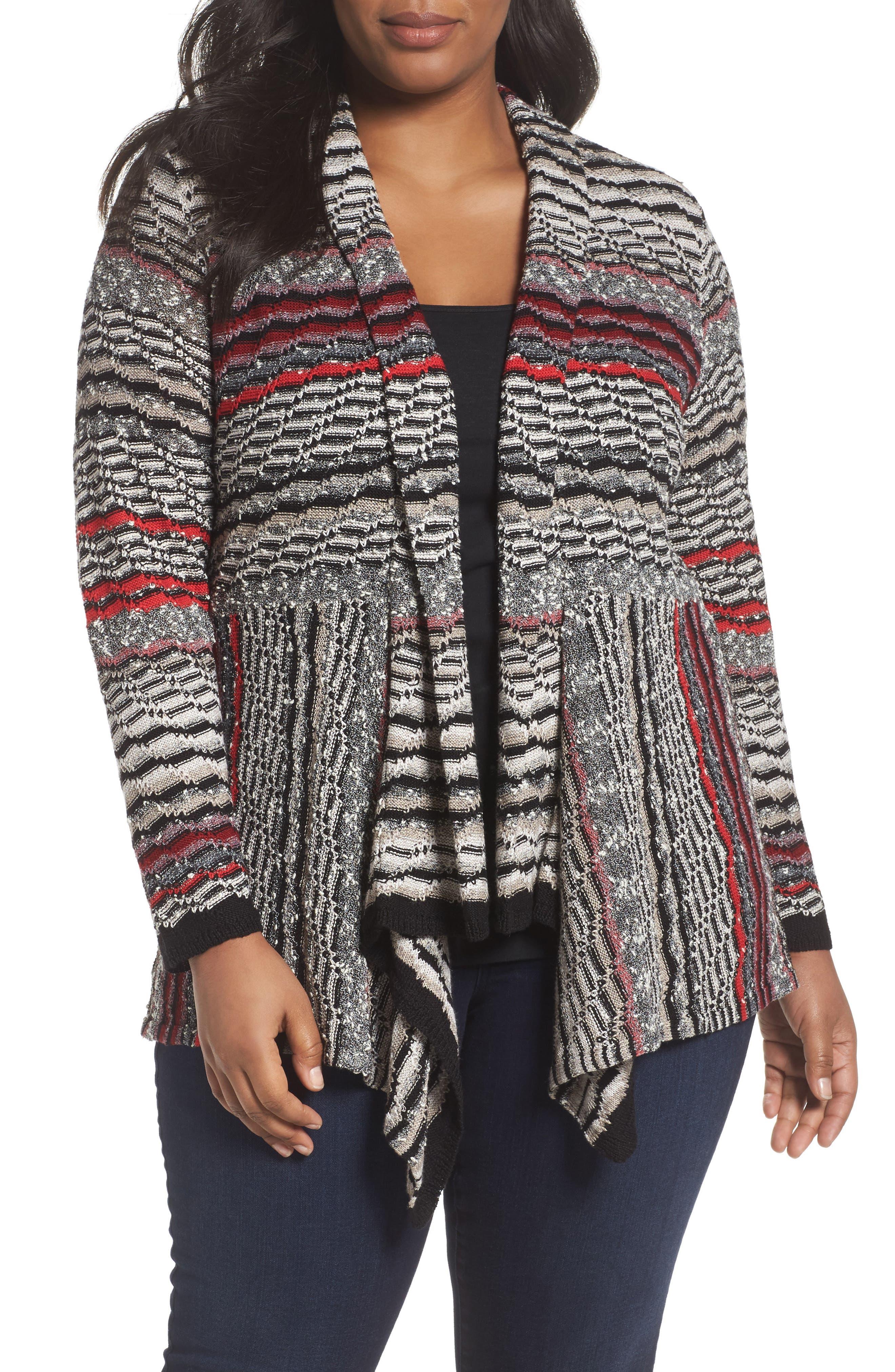 Shaded Stripes Cardigan,                             Main thumbnail 1, color,                             Oxide
