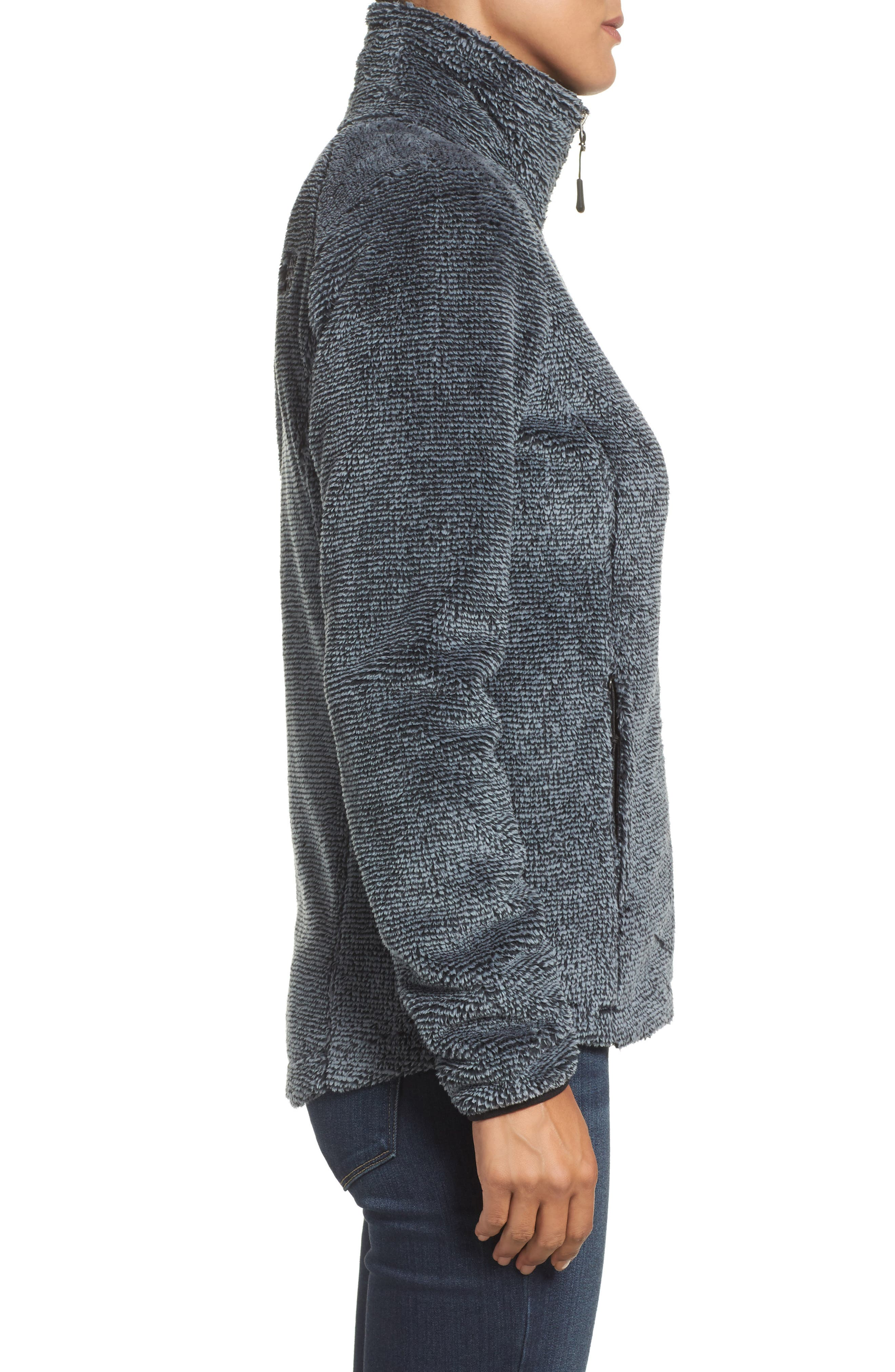 'Osito 2' Jacket,                             Alternate thumbnail 3, color,                             Tnf Black/ Mid Grey Stripe