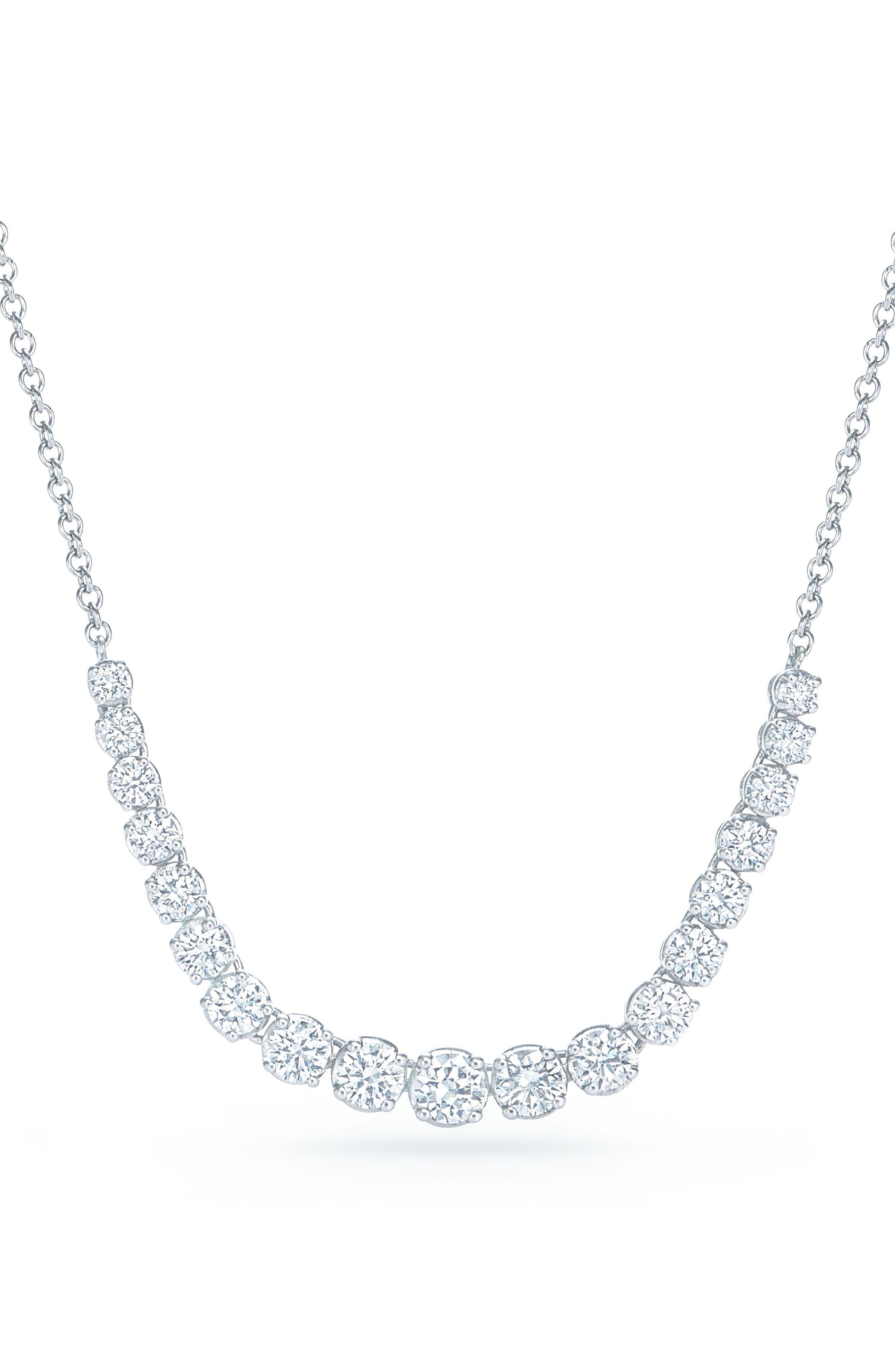 Riviera Diamond Pendant Necklace,                         Main,                         color, White Gold