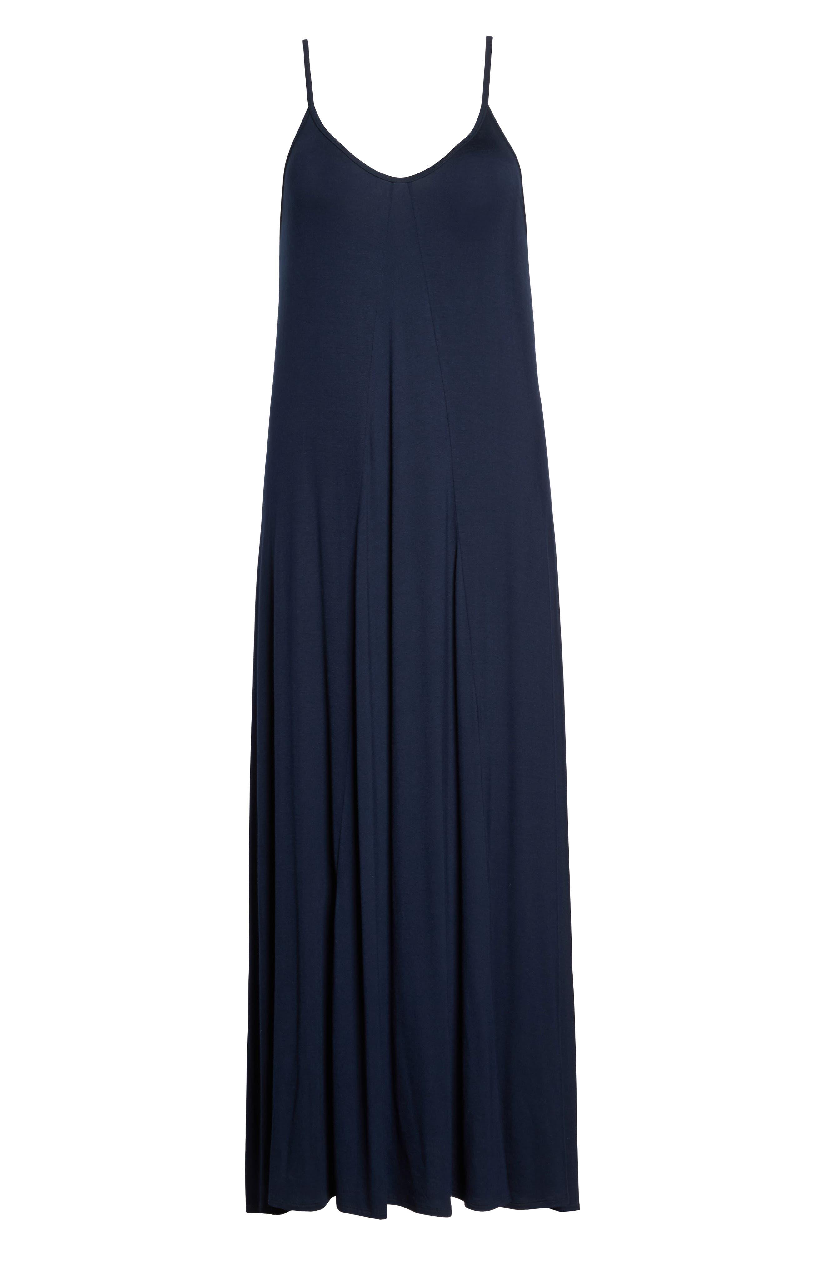 A-Line Maxi Dress,                             Alternate thumbnail 6, color,                             Midnight