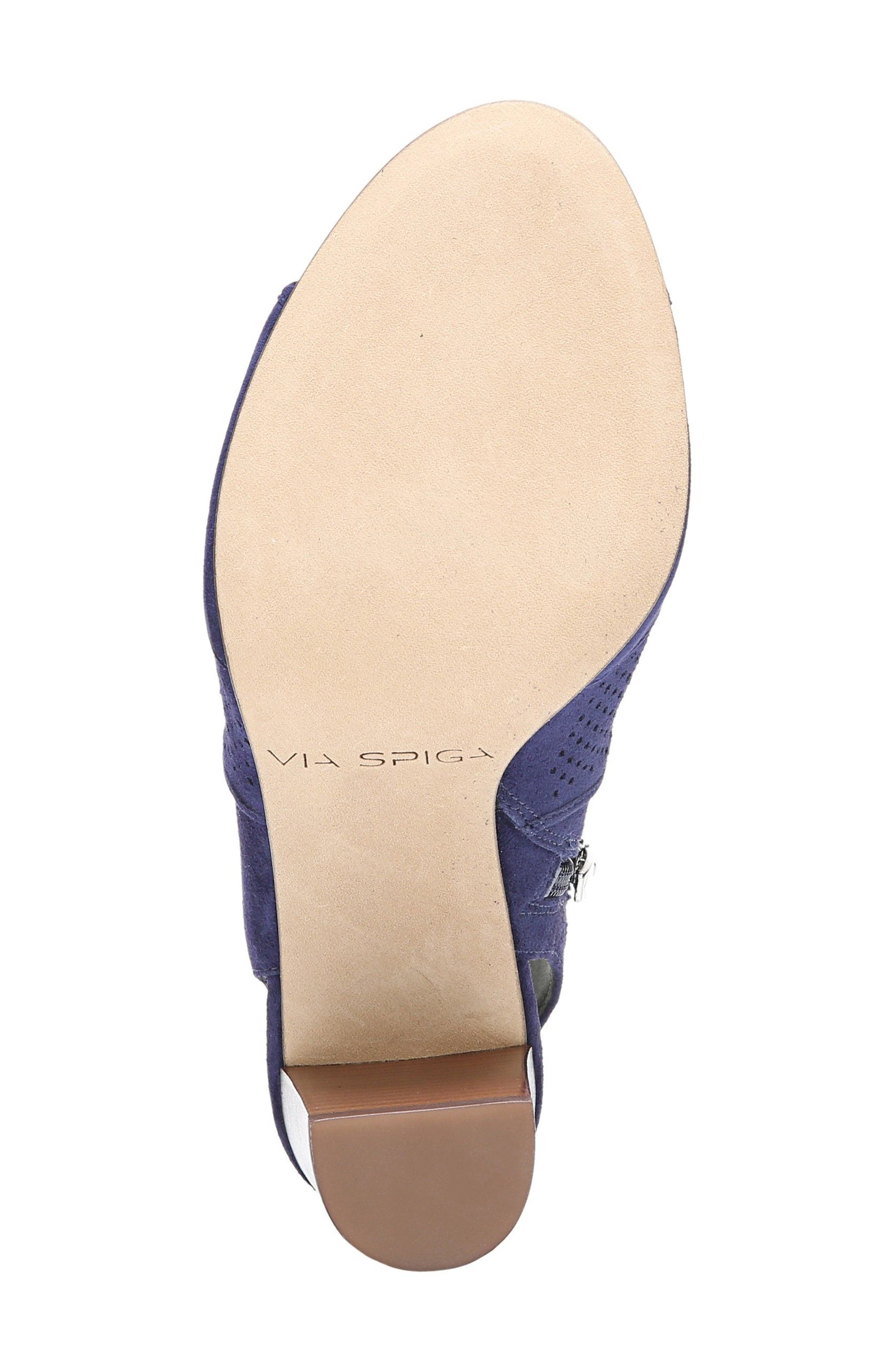 Gaze Block Heel Sandal,                             Alternate thumbnail 6, color,                             Marina Blue Suede