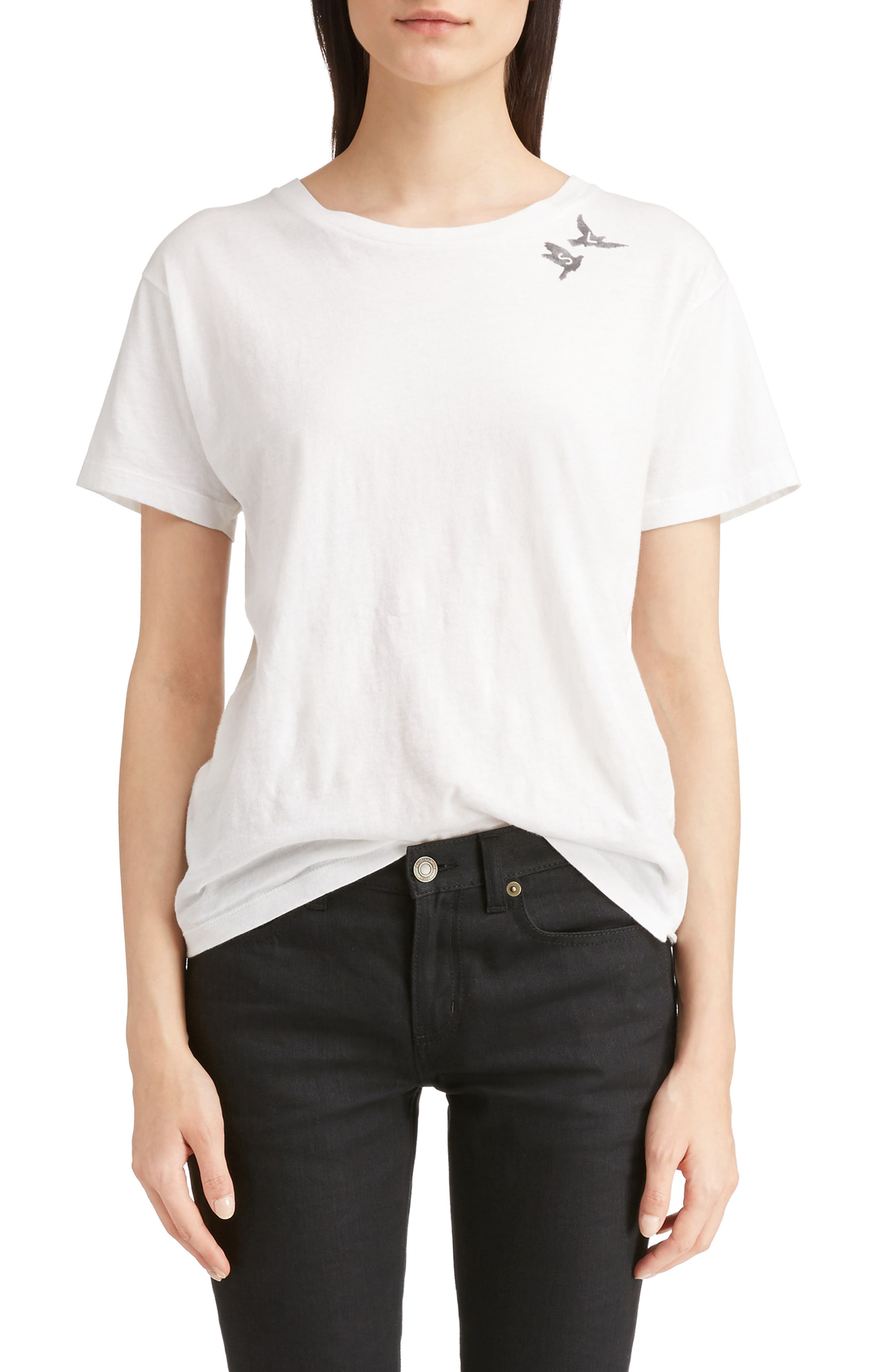 Alternate Image 1 Selected - Saint Laurent S & L Logo Print Tee