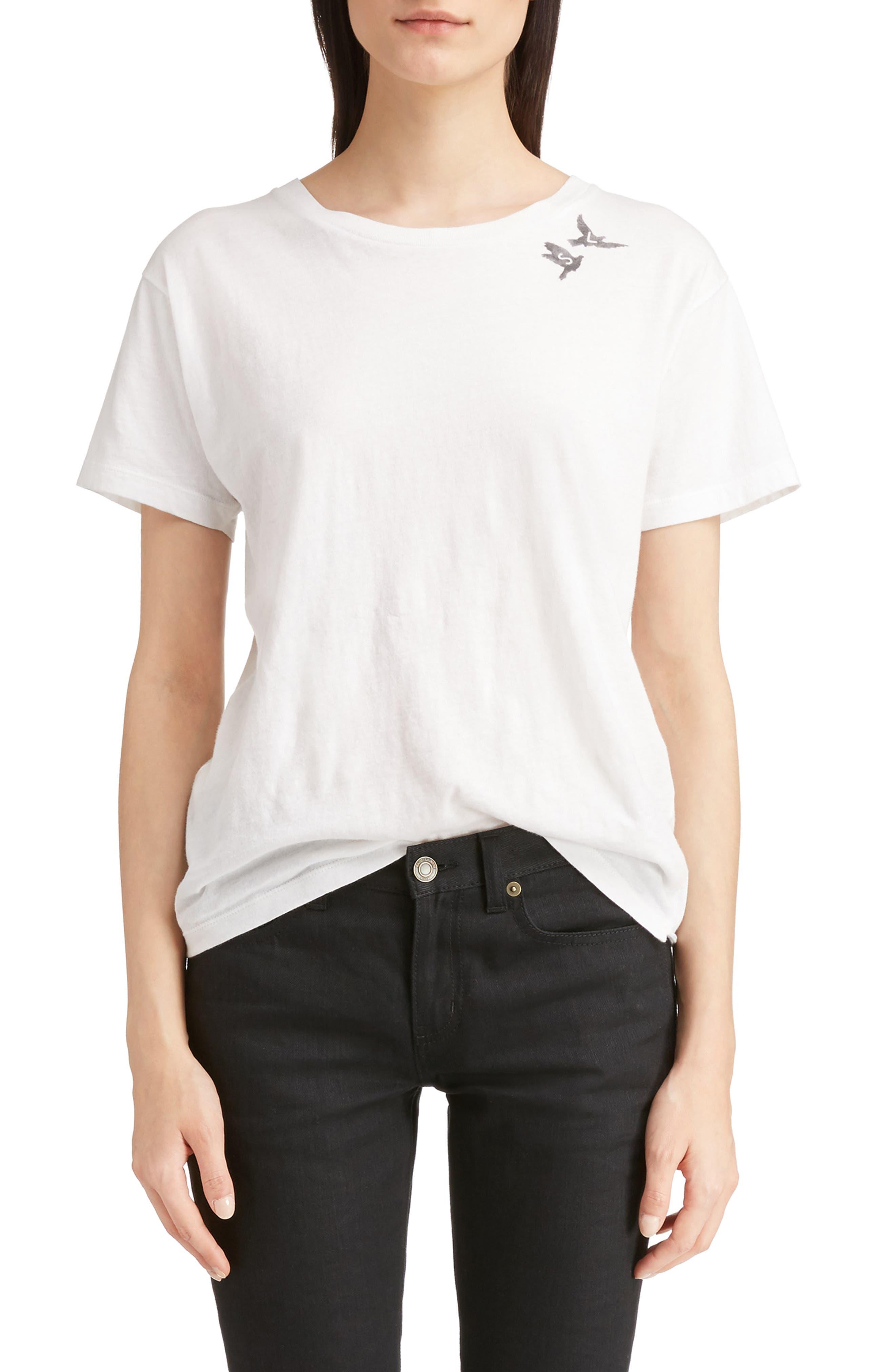 Main Image - Saint Laurent S & L Logo Print Tee