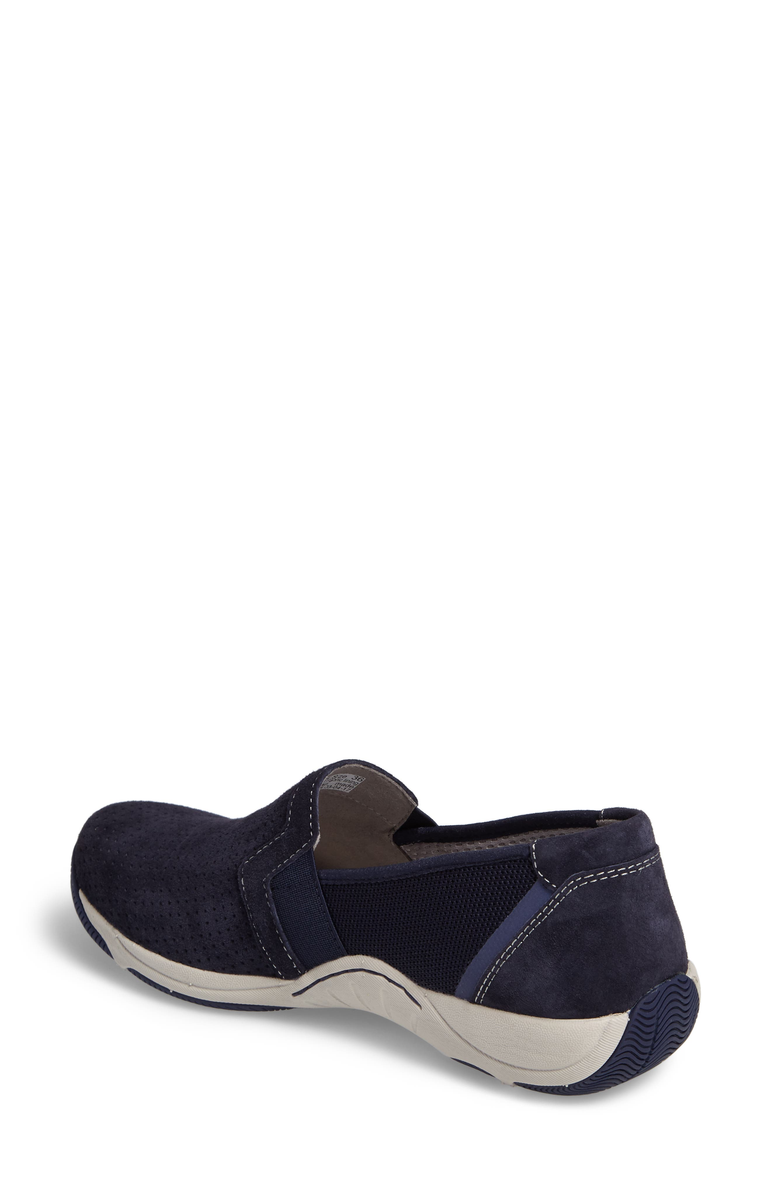 Halifax Collection Halle Slip-On Sneaker,                             Alternate thumbnail 2, color,                             Navy Suede
