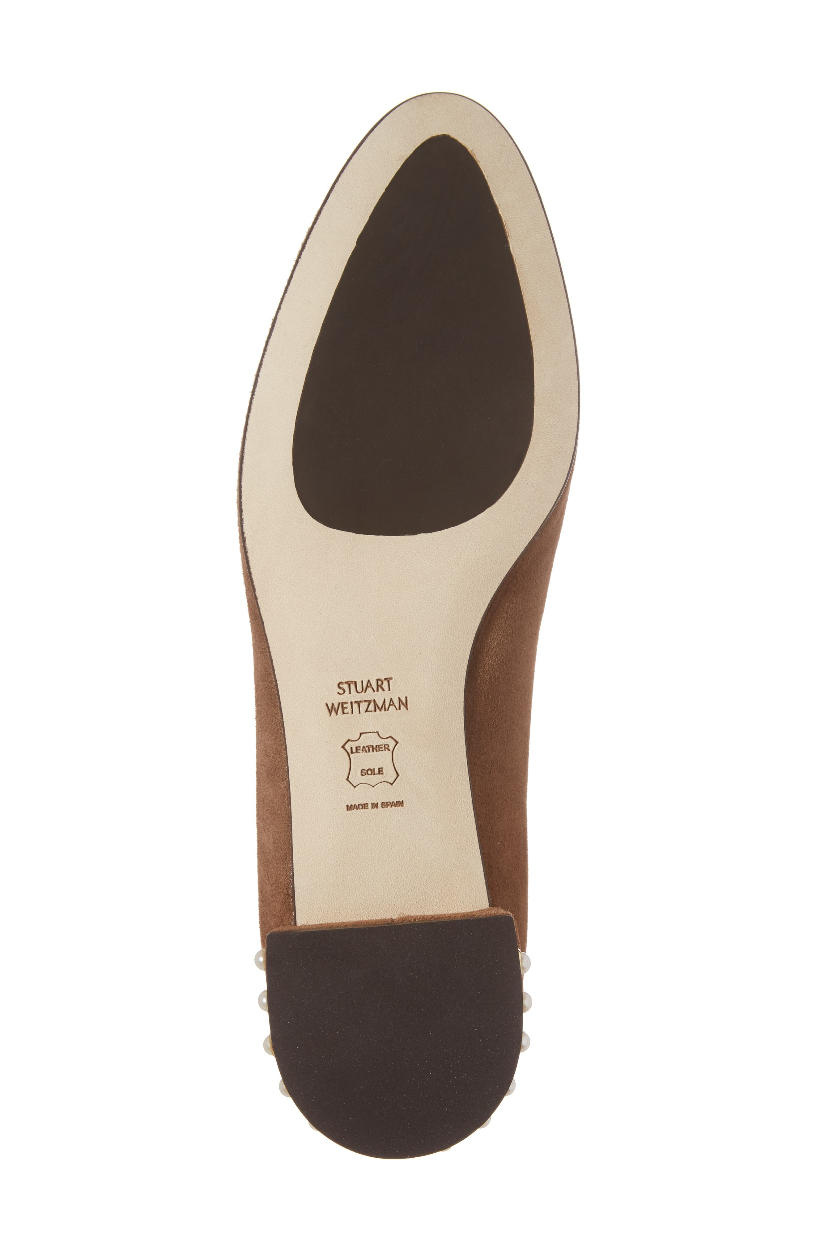 Chicpearl Ballet Flat,                             Alternate thumbnail 6, color,                             Nutmeg Suede