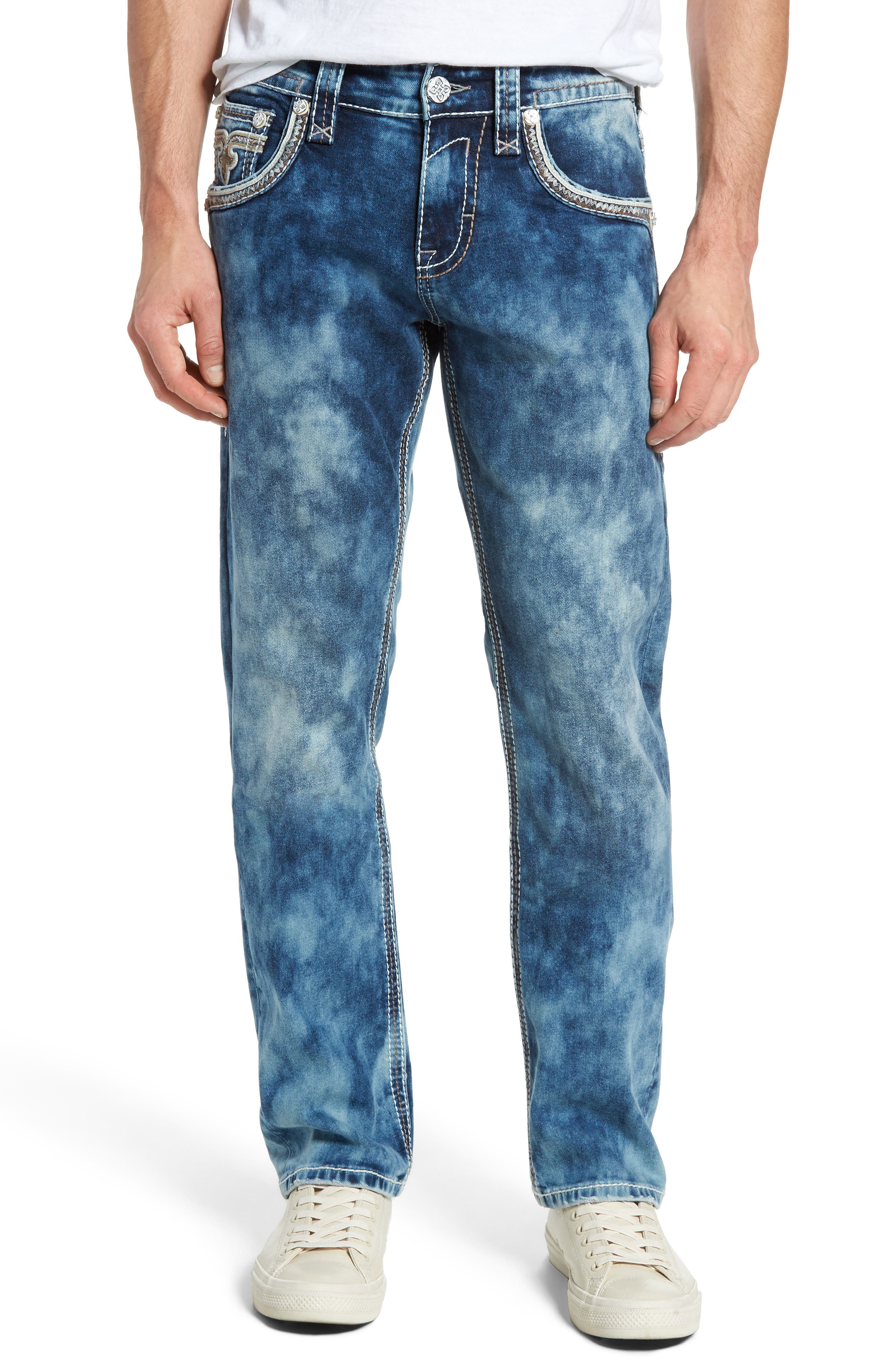 Rock Revival Straight Leg Jeans (Acid Blue)