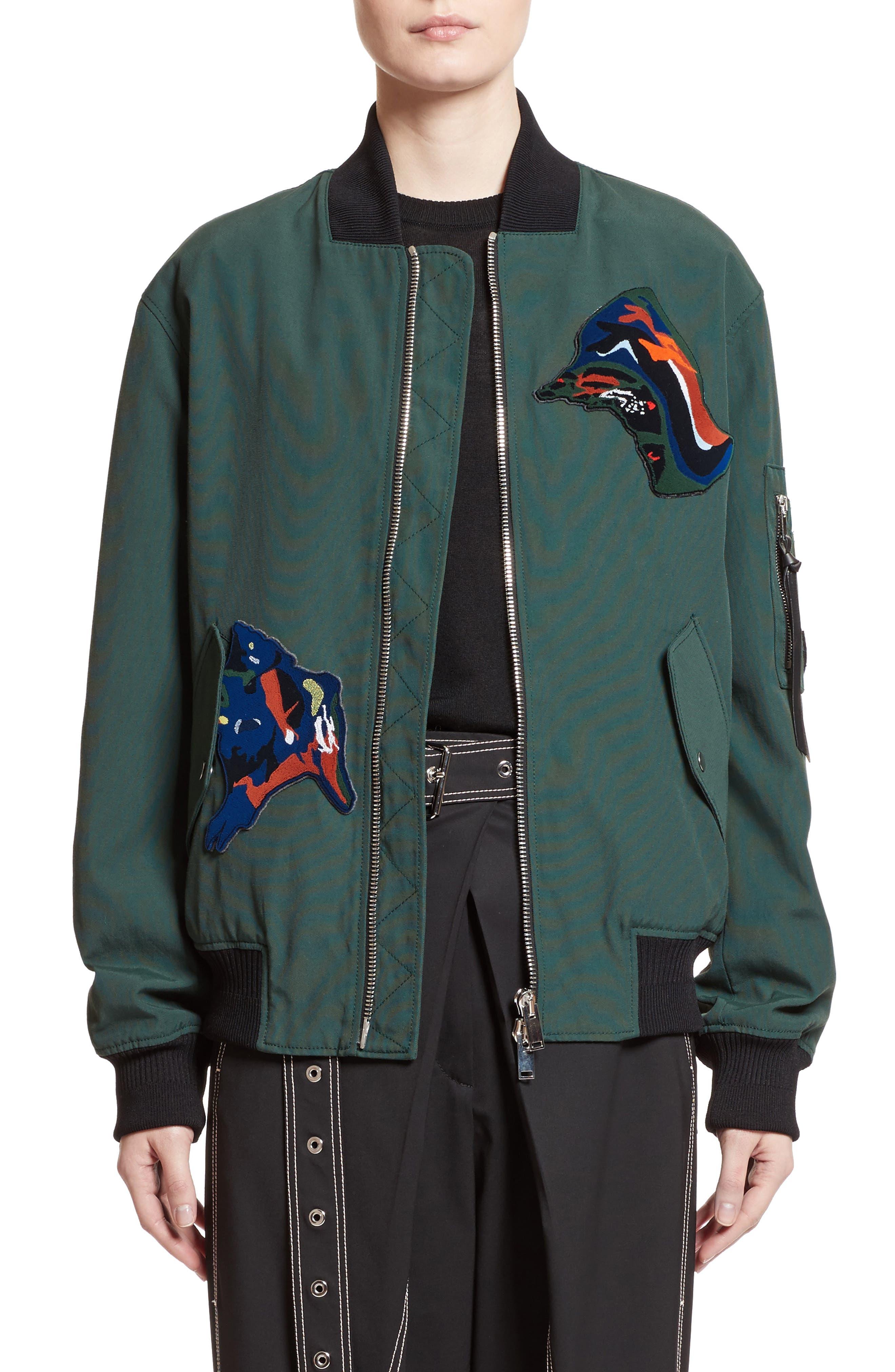 Main Image - Proenza Schouler Patch Embellished Bomber Jacket