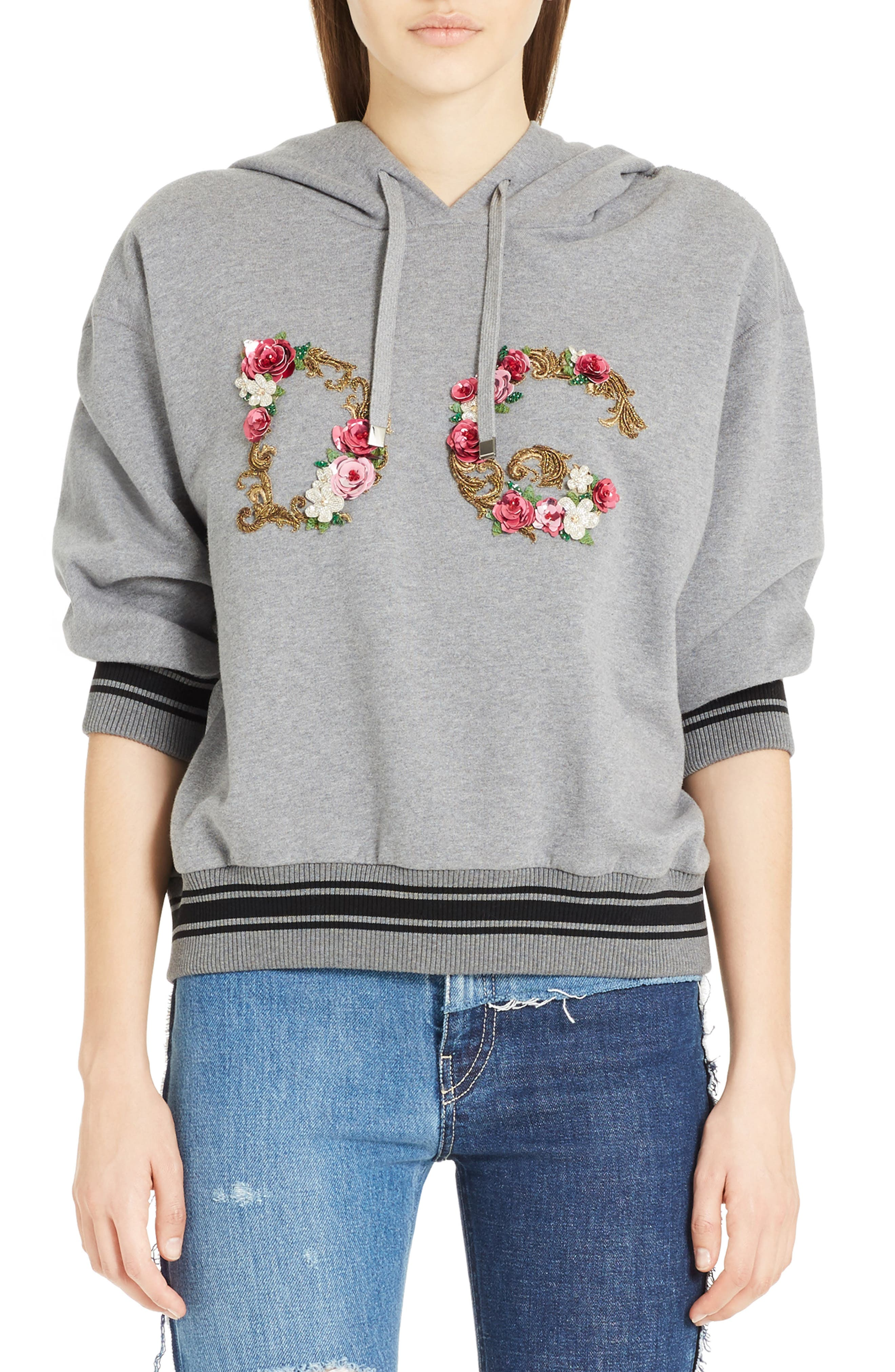 Dolce&Gabbana Flower Logo Cotton Sweatshirt
