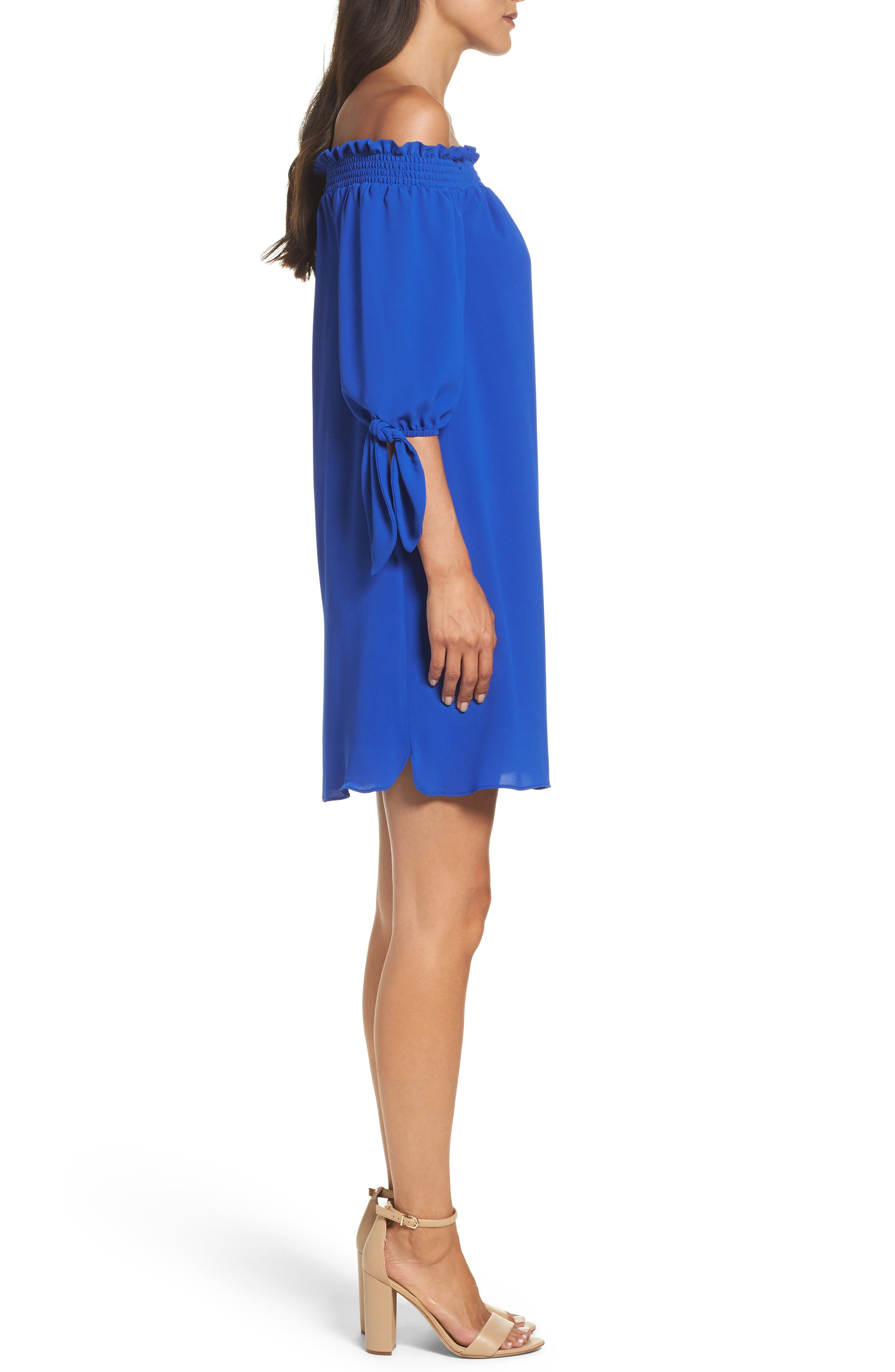 Alternate Image 3  - Vince Camuto Stretch Crepe Shift Dress (Regular & Petite)