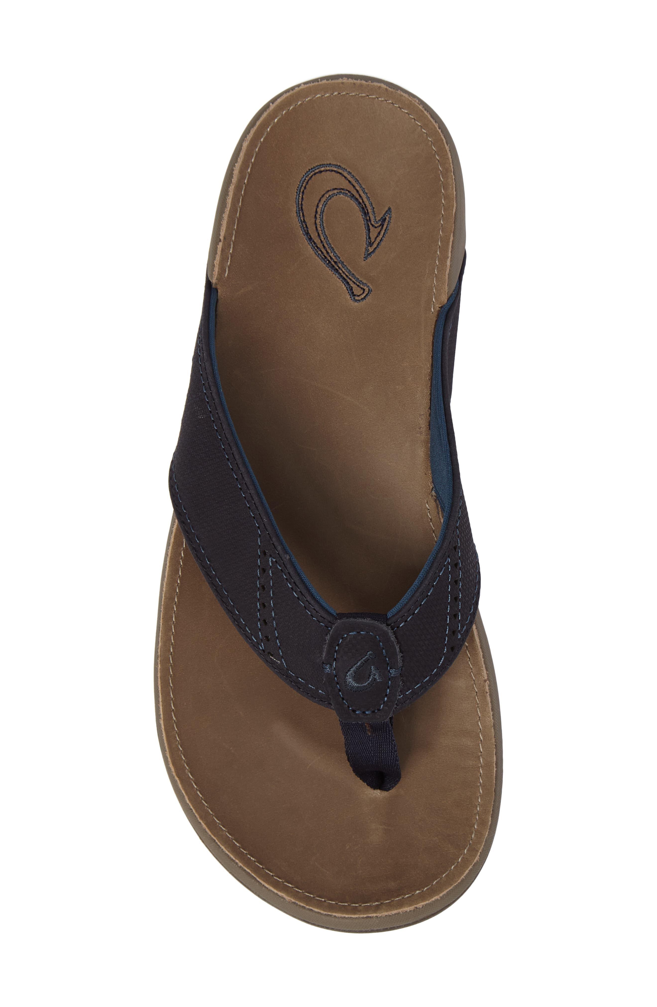 Alternate Image 5  - OluKai 'Nui' Leather Flip Flop (Men)
