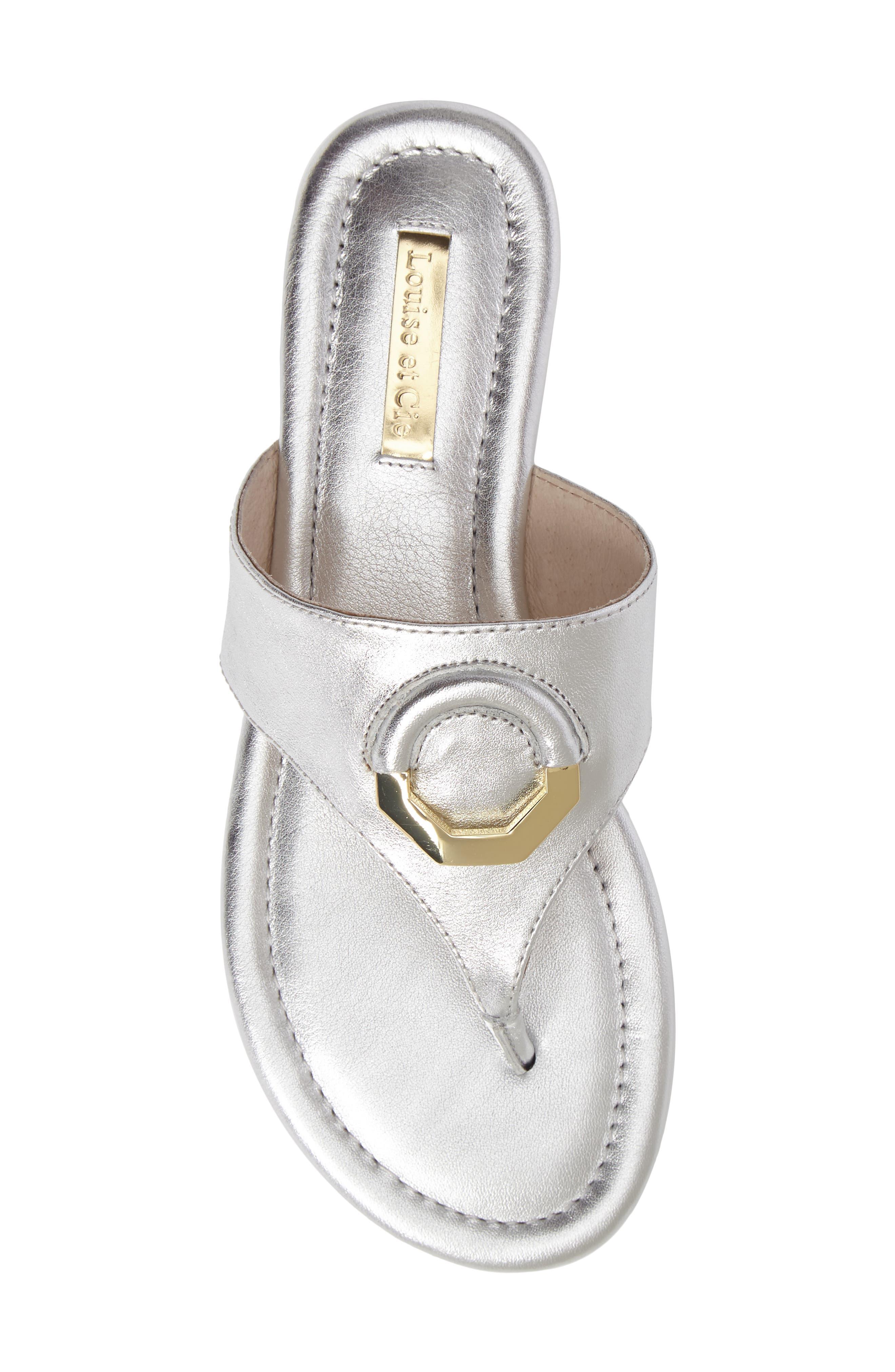Adana Flip Flop,                             Alternate thumbnail 5, color,                             Sterling Leather