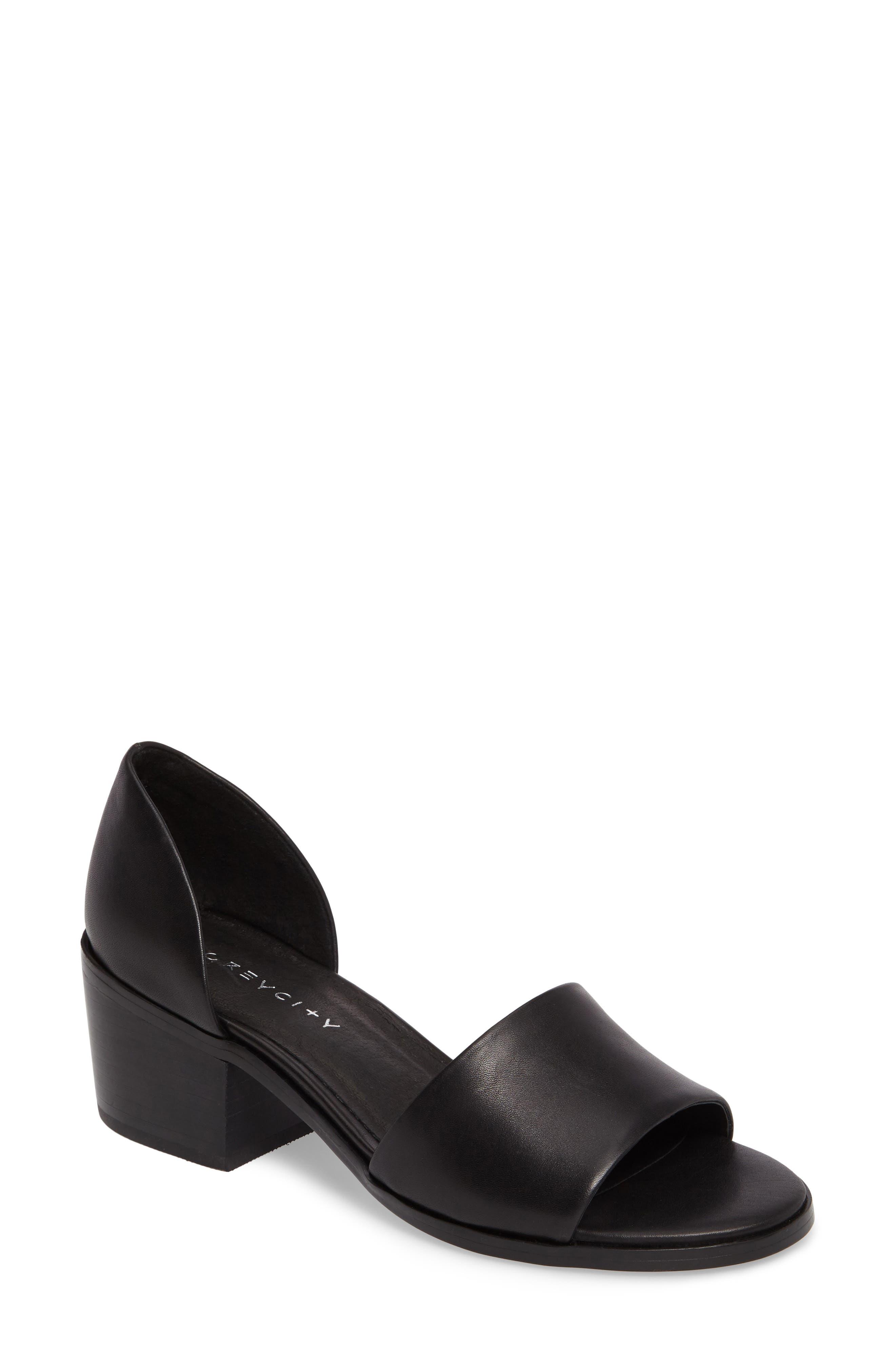 Grey City Ditty Block Heel Sandal (Women)