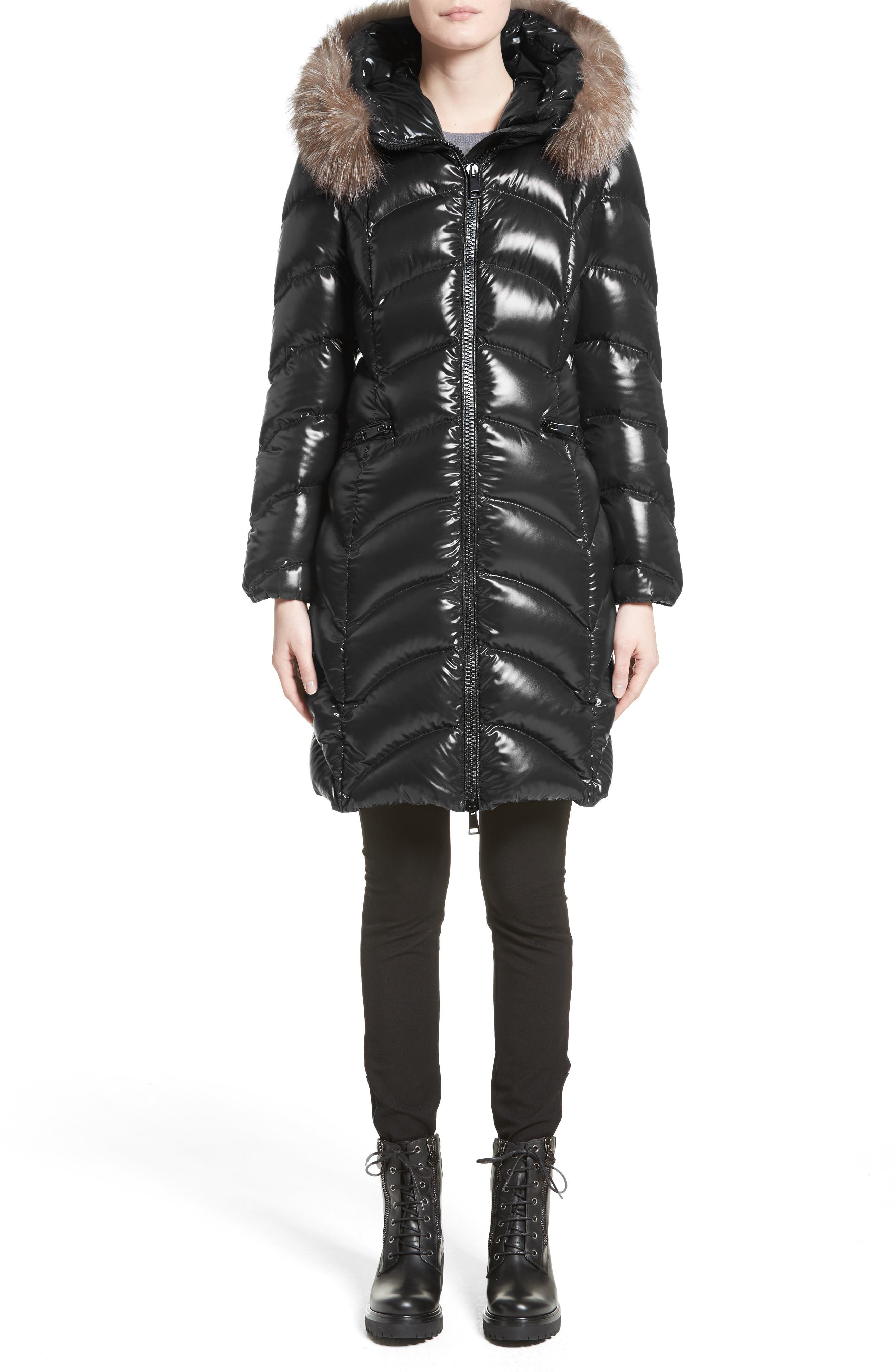 Alternate Image 6  - Moncler Albizia Down Puffer Coat with Genuine Fox Fur Trim