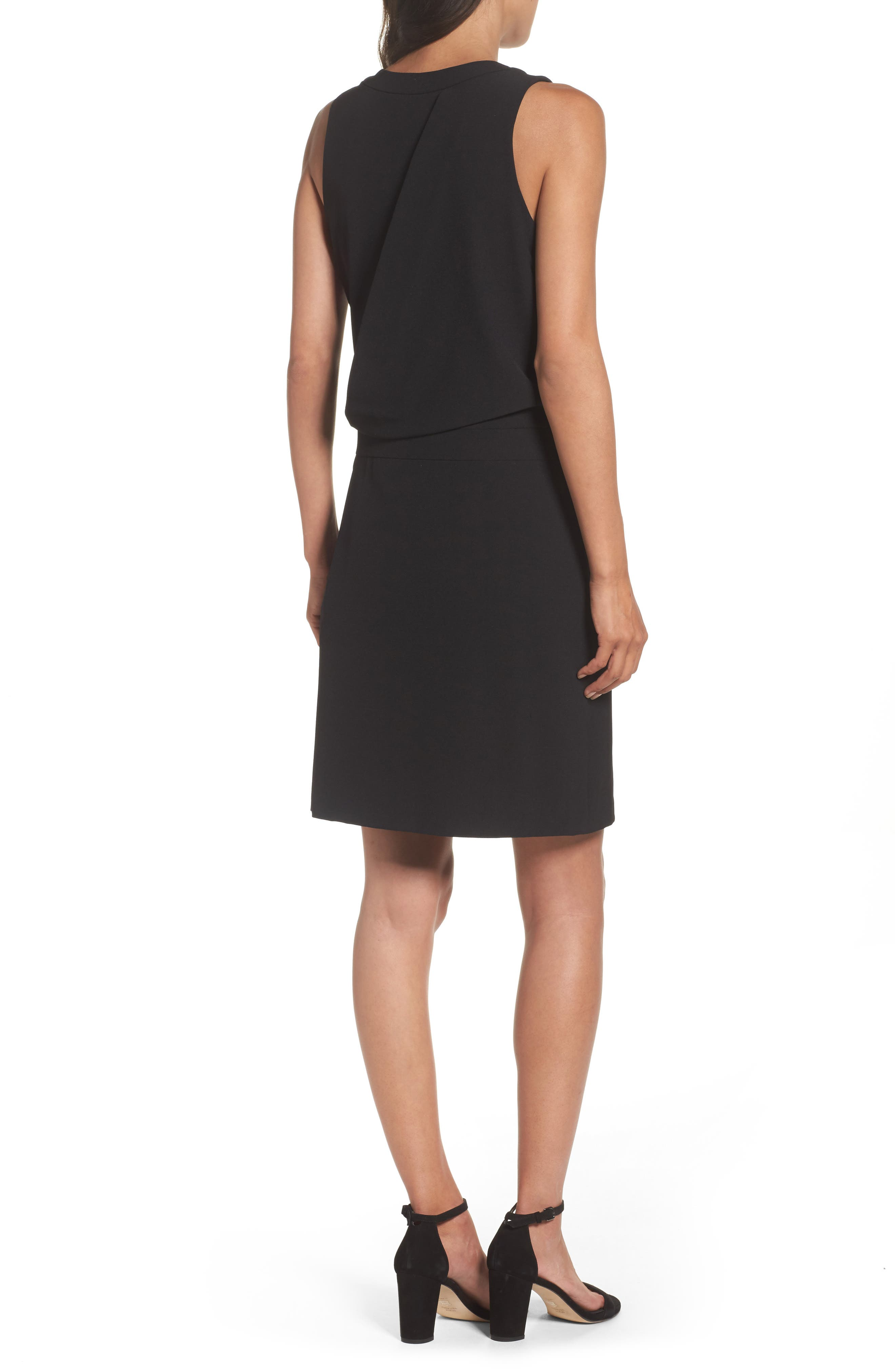 Stretch Sheath Dress,                             Alternate thumbnail 2, color,                             Black