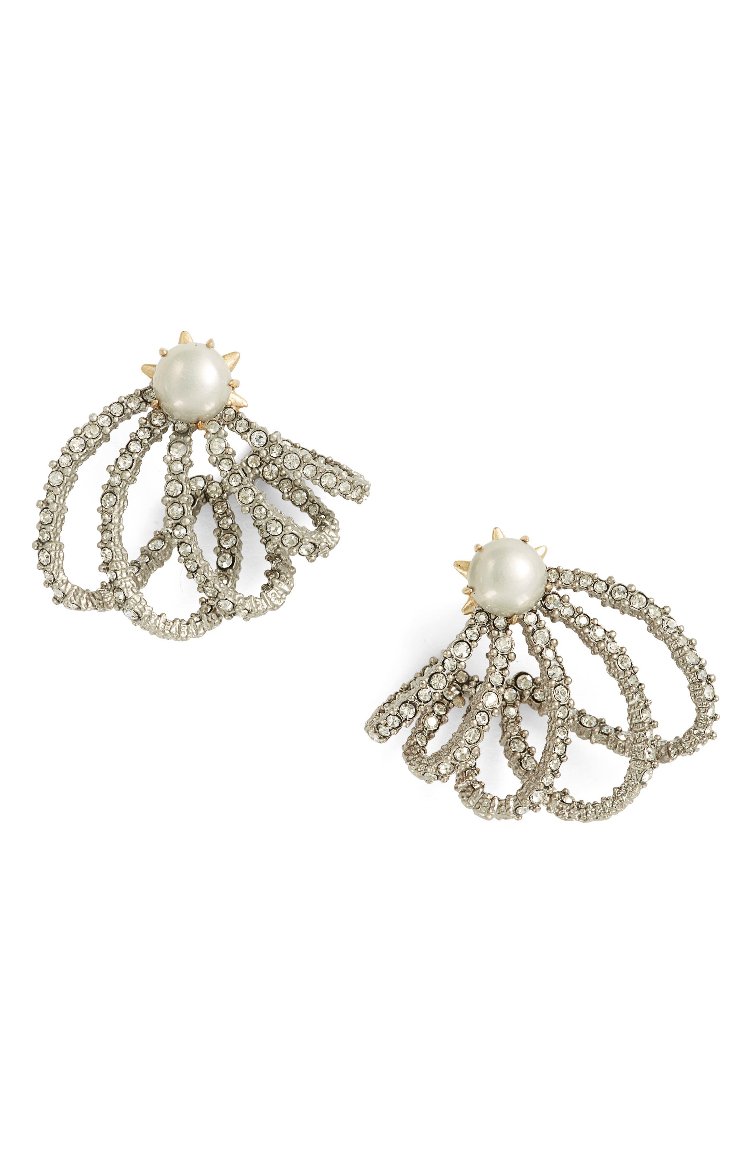 Orbiting Crystal Earrings,                         Main,                         color, Crystal