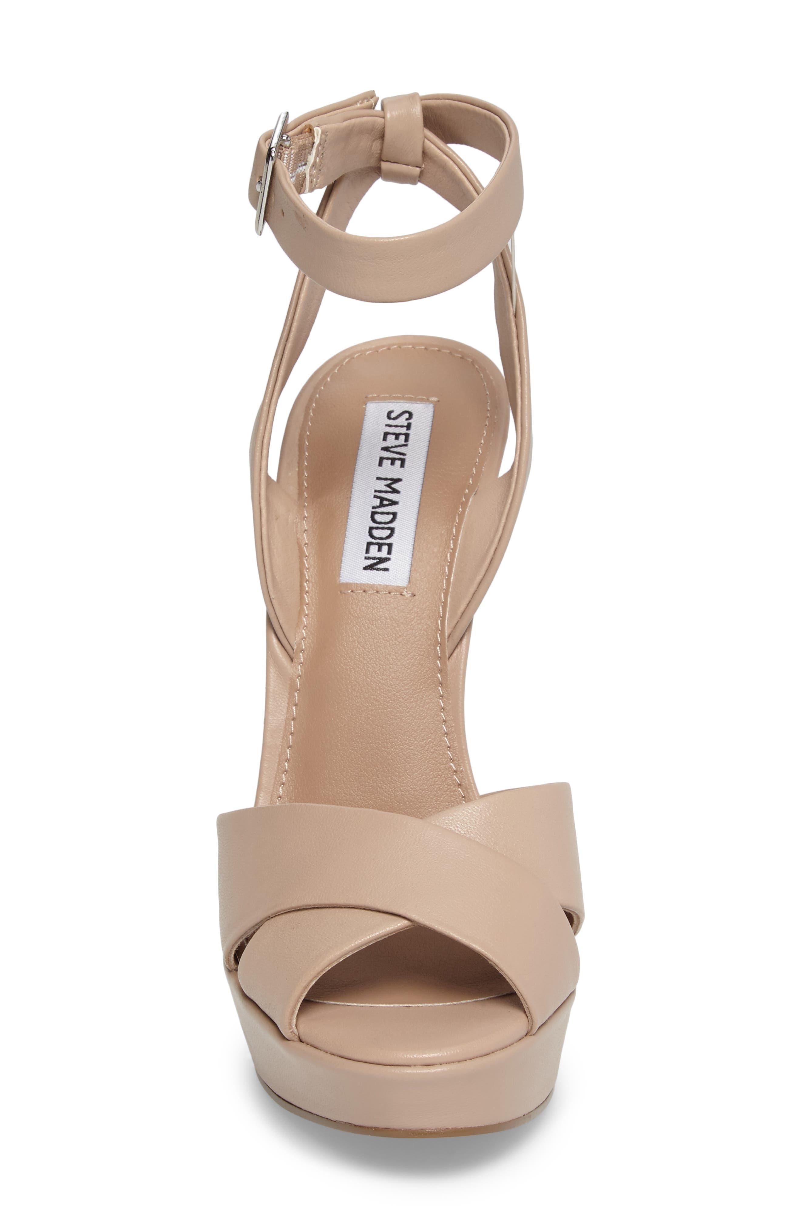 Alternate Image 4  - Steve Madden Andrea Cross Strap Platform Sandal (Women)