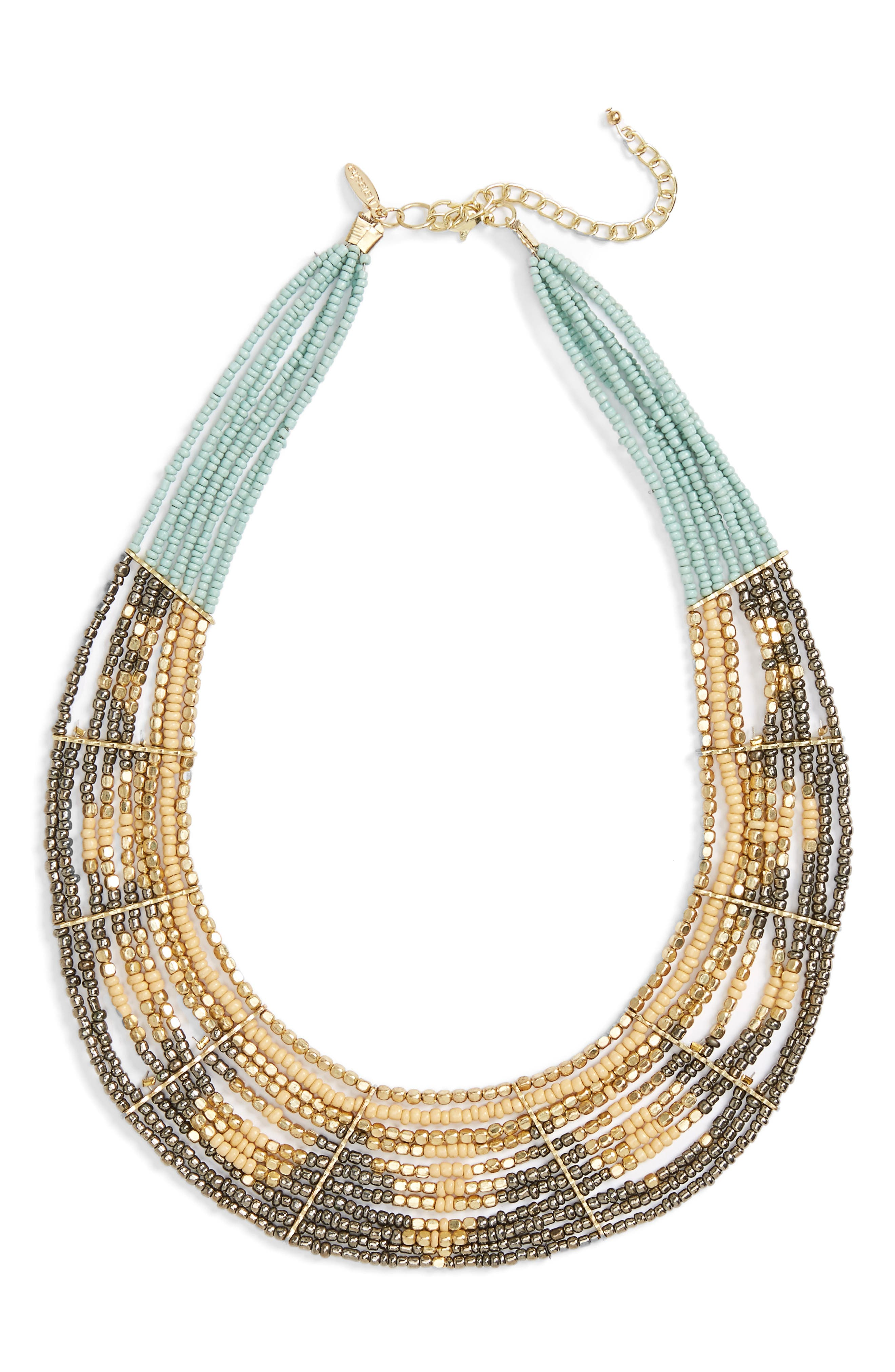 Natasha Beaded Statement Necklace