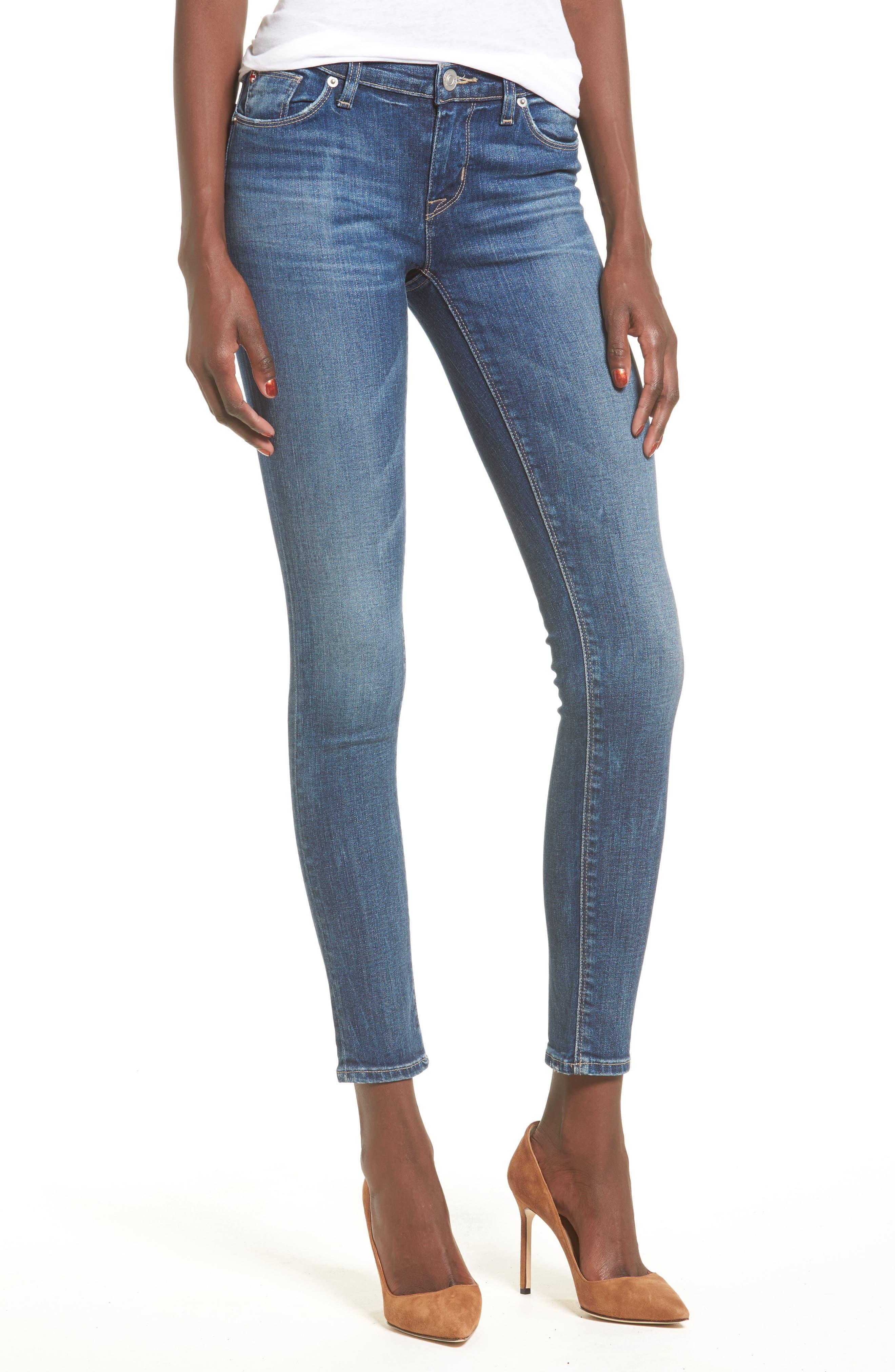 Main Image - Hudson Jeans 'Krista' Super Skinny Jeans (Solo)