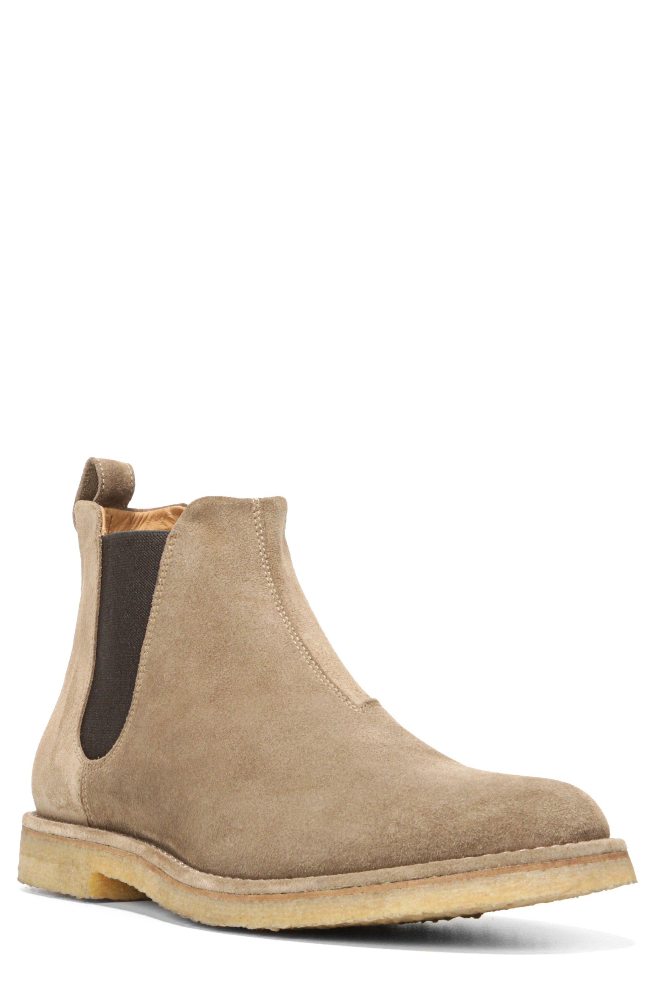 'Sawyer' Chelsea Boot,                         Main,                         color, Flint Suede
