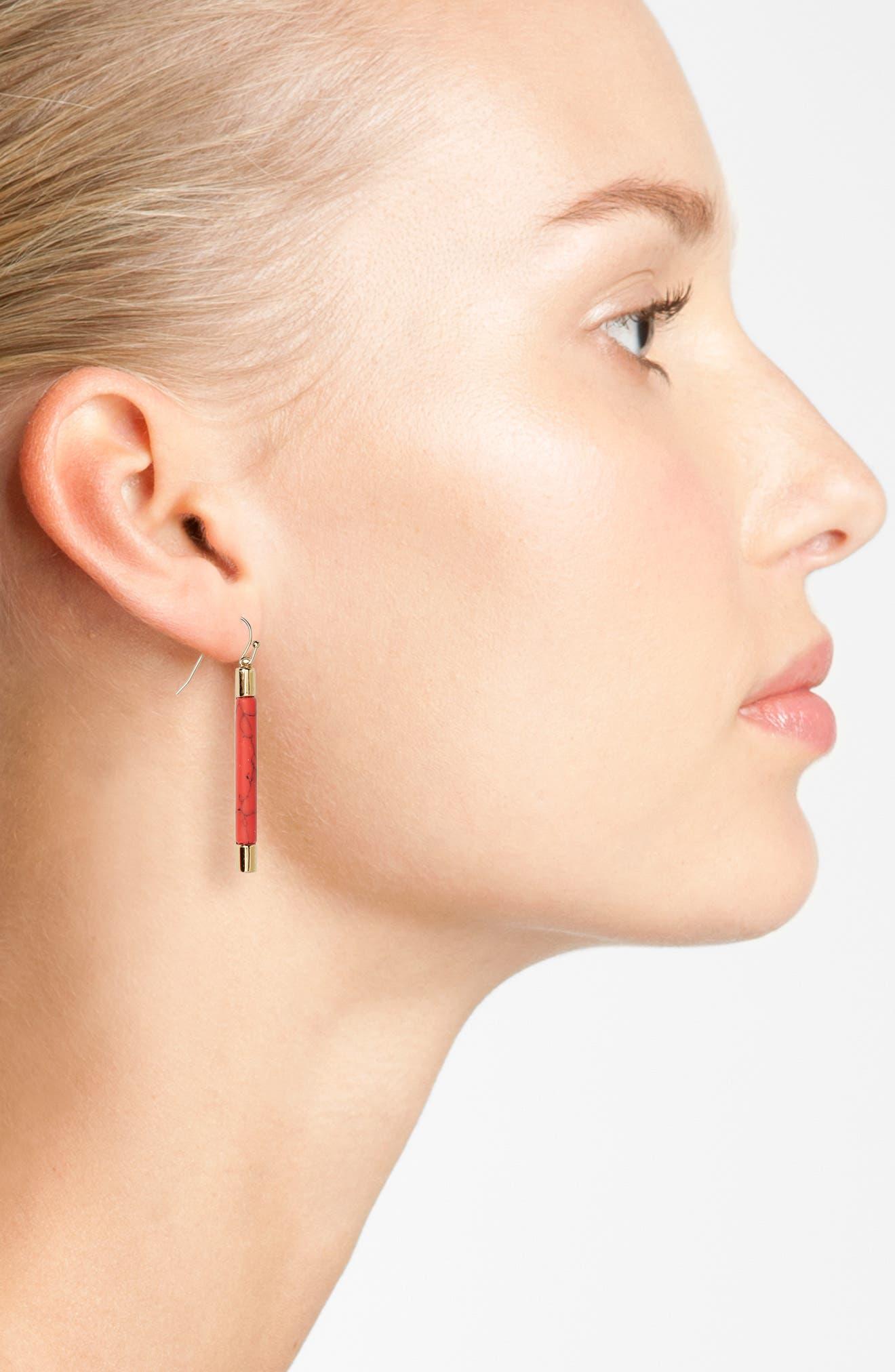 Alternate Image 2  - kate spade building blocks linear drop earrings
