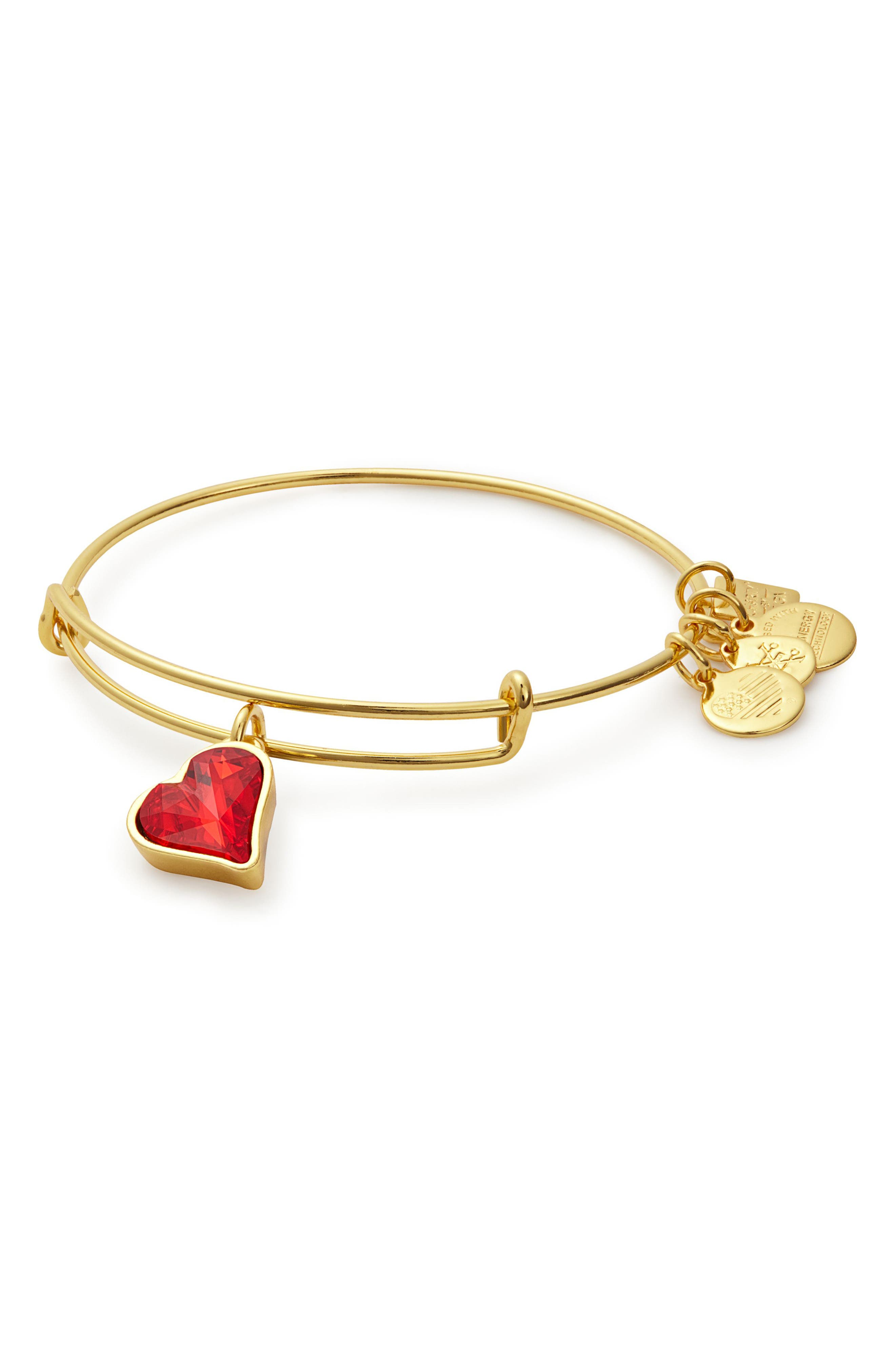 Alex and Ani (PRODUCT) RED Heart of Strength Expandable Charm Bracelet