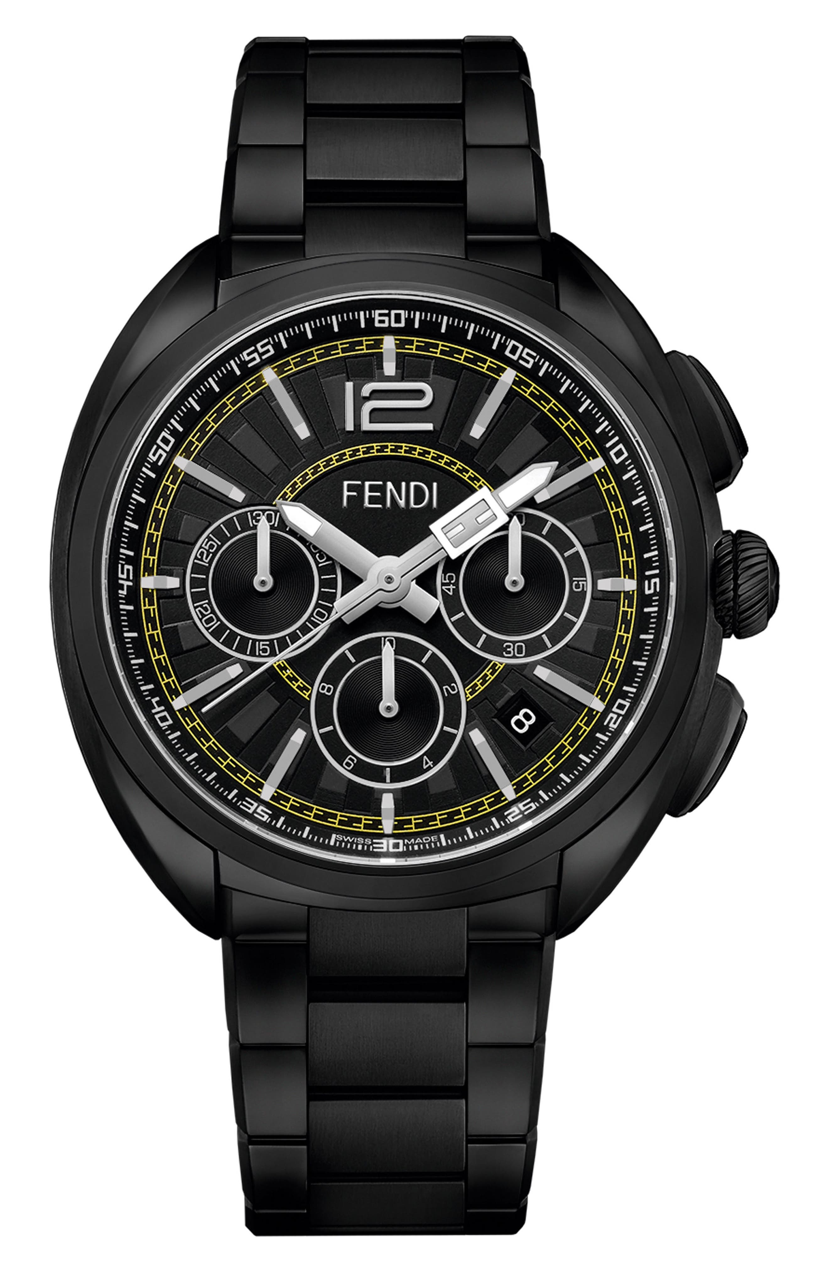 Momento Chronograph Bracelet Watch, 46mm,                             Main thumbnail 1, color,                             Black