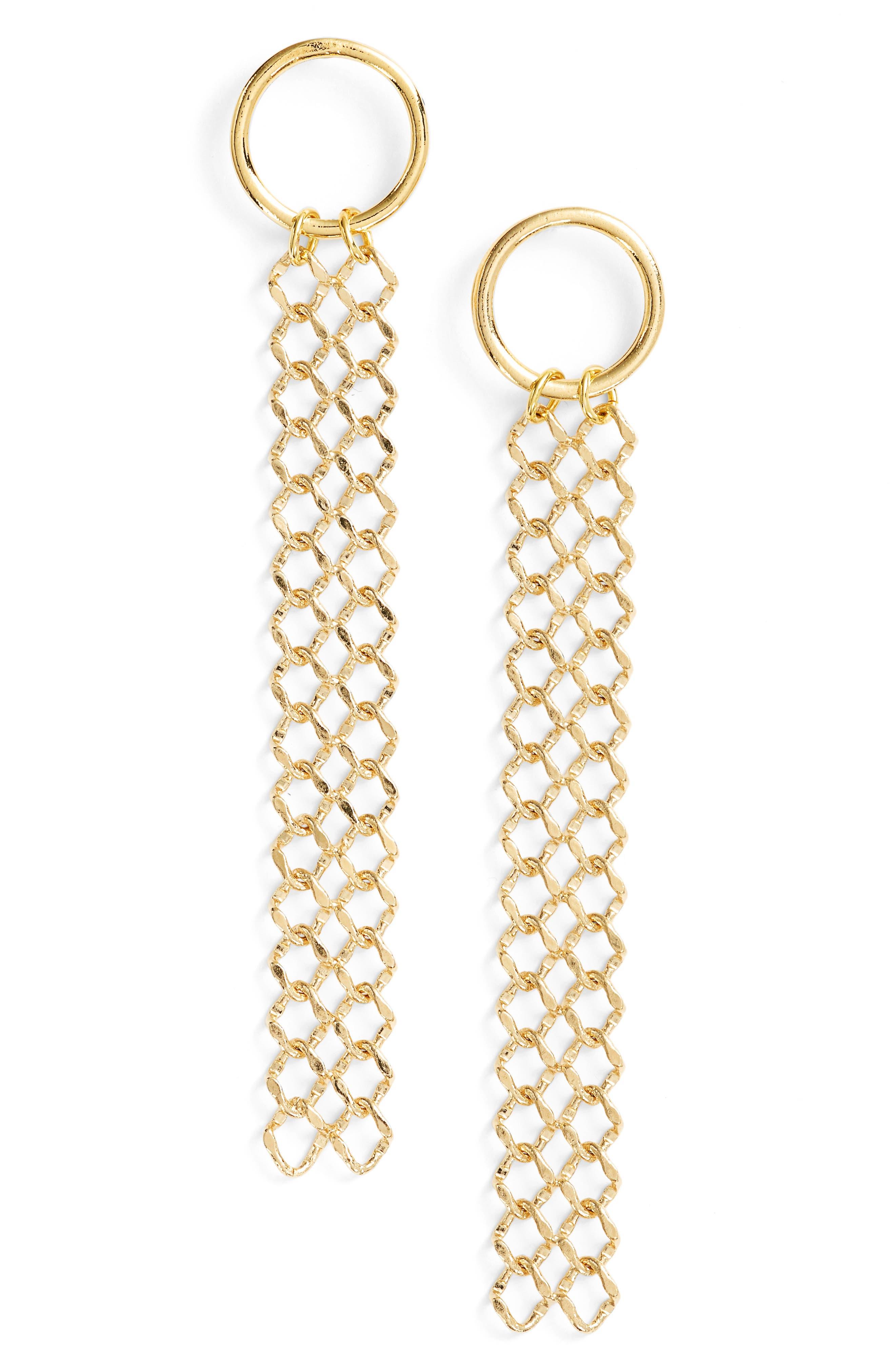 Jules Drop Earrings,                         Main,                         color, Gold