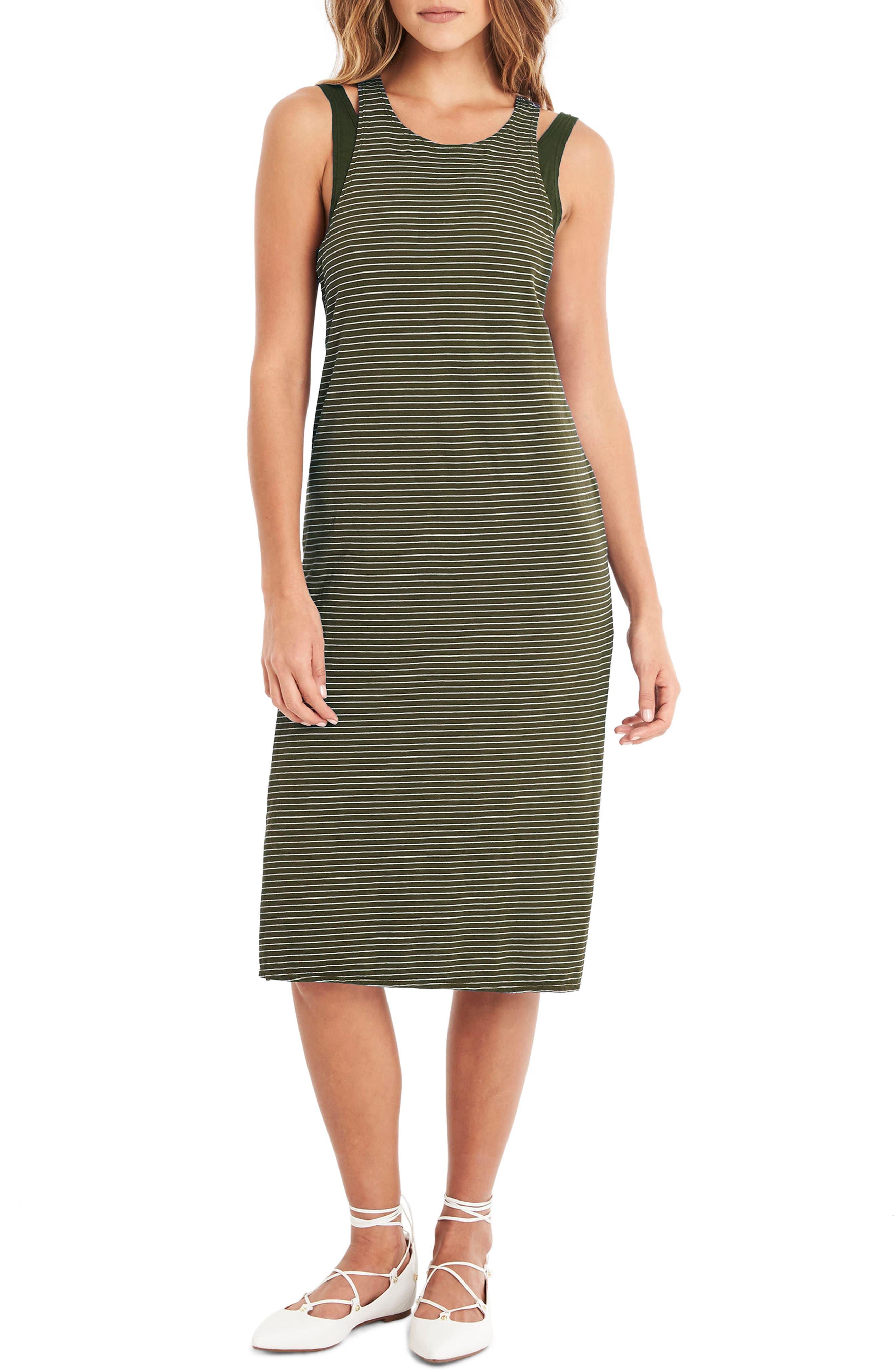 MICHAEL STARS Layered Knit Tank Dress