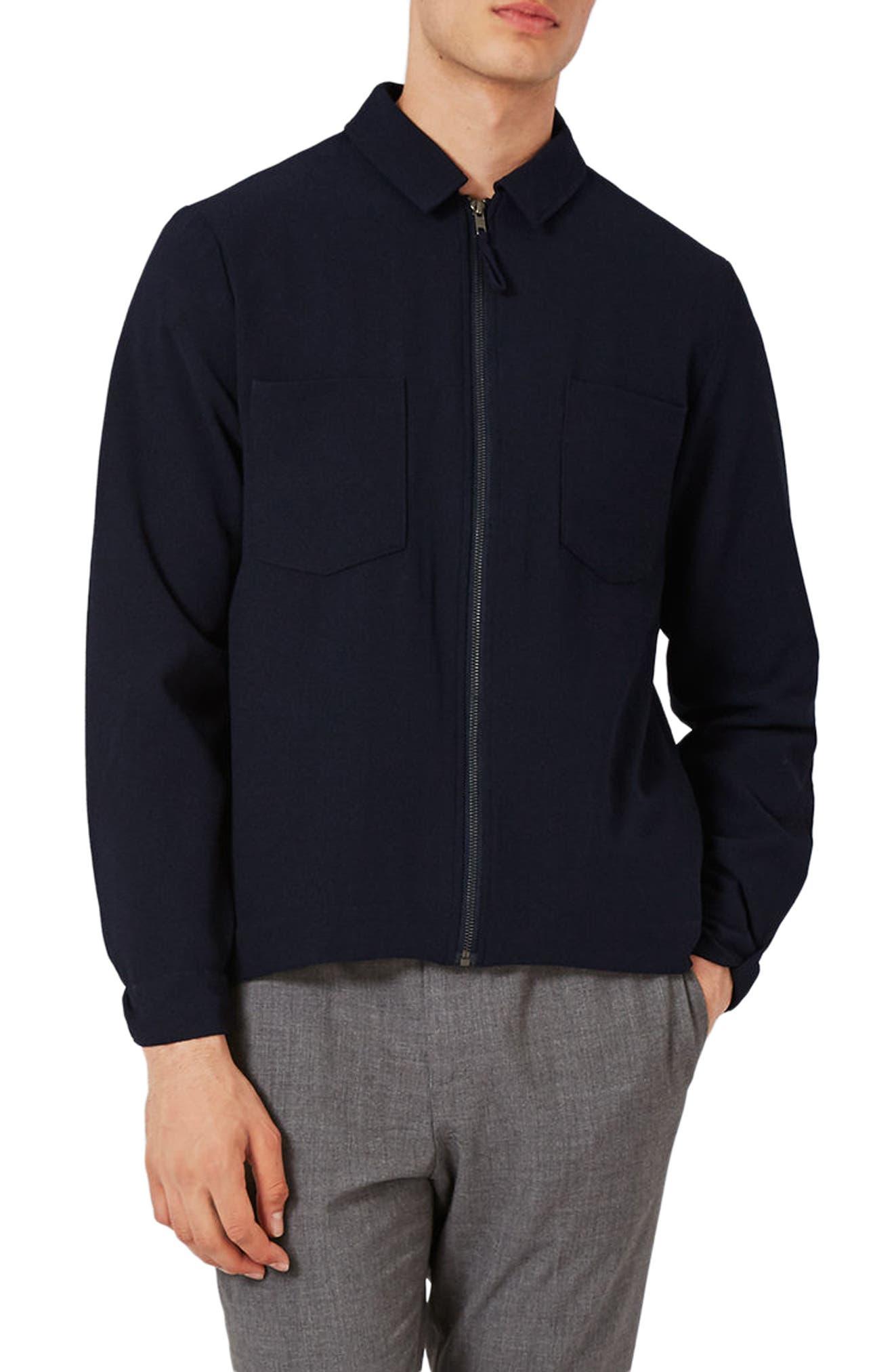 Main Image - Topman Lightweight Smart Jacket