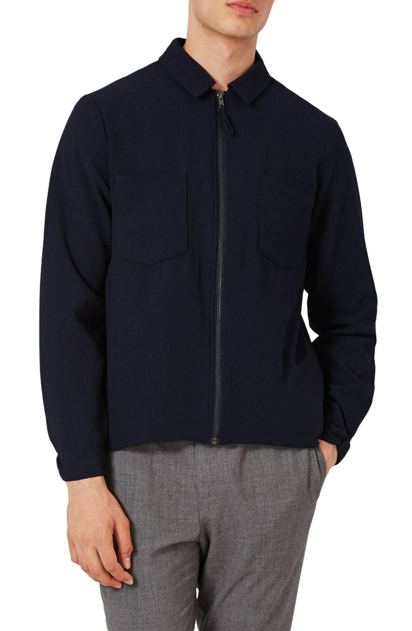 Lightweight Smart Jacket,                         Main,                         color, Navy Blue