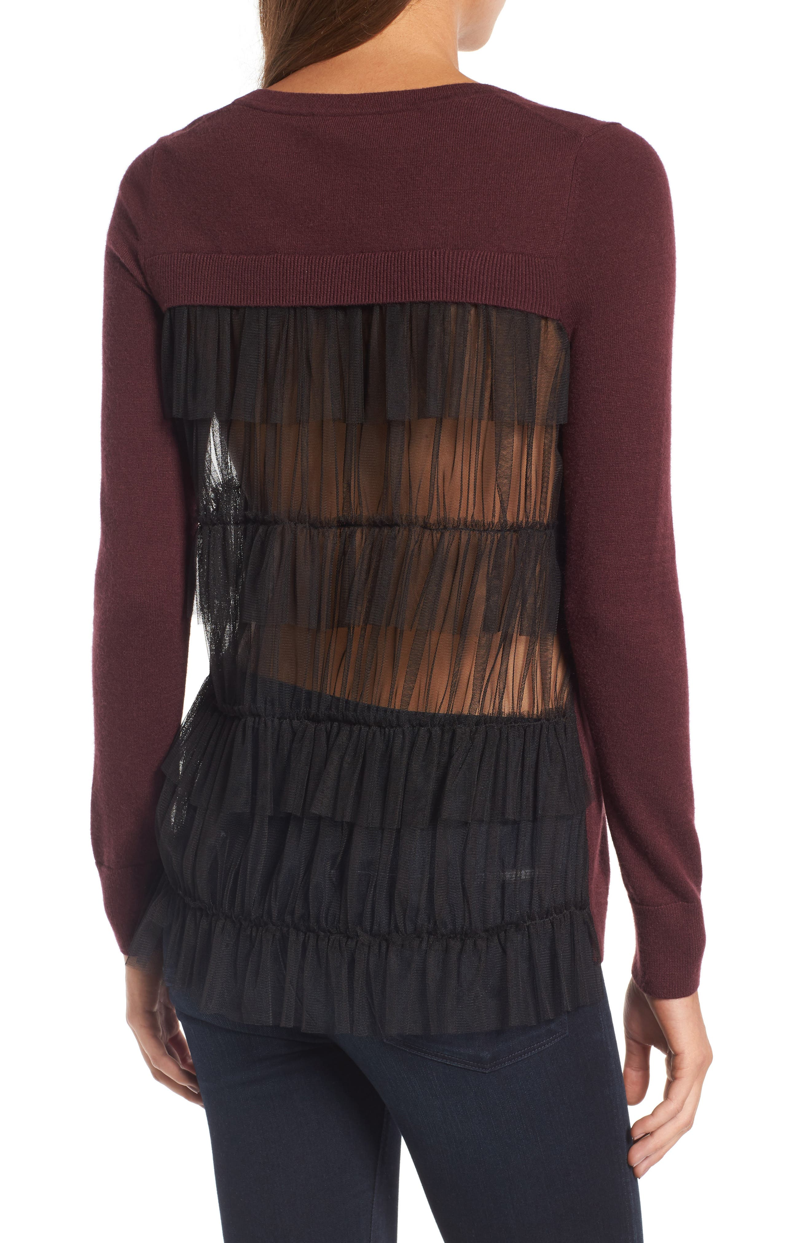 Alternate Image 1 Selected - Chelsea28 Tulle Back Sweater