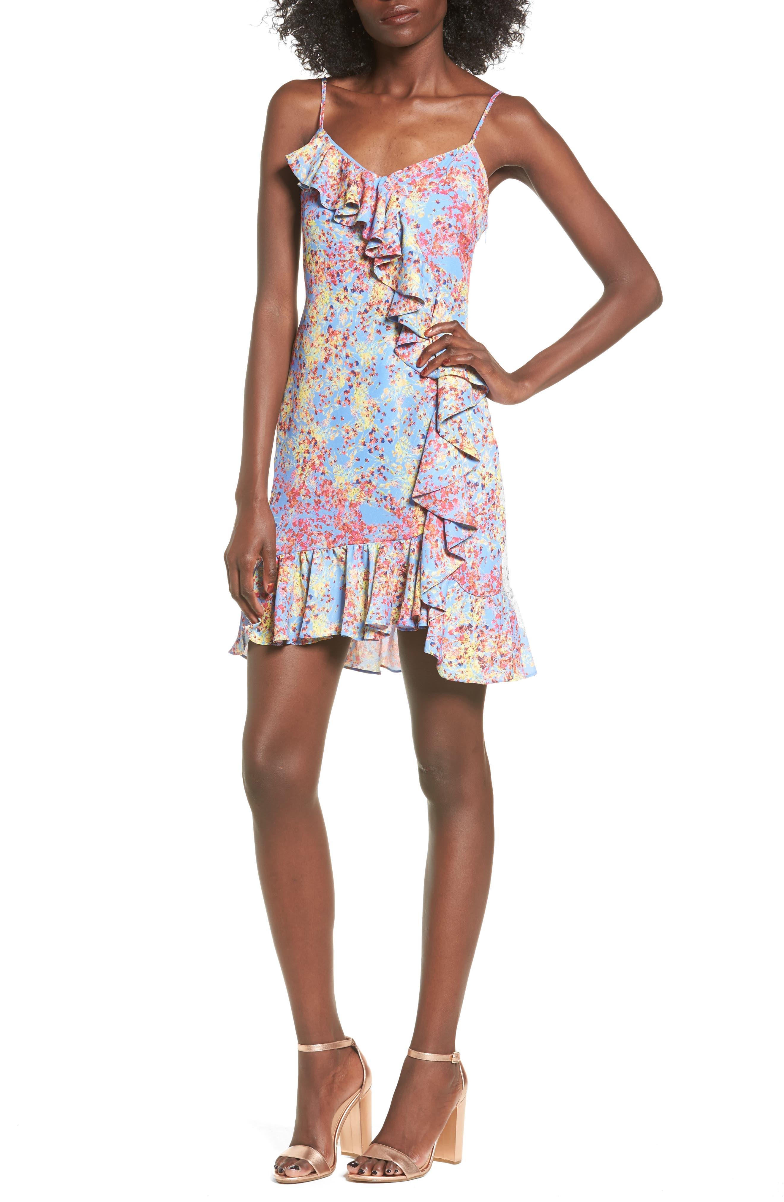devlin Blair Floral Ruffle Dress